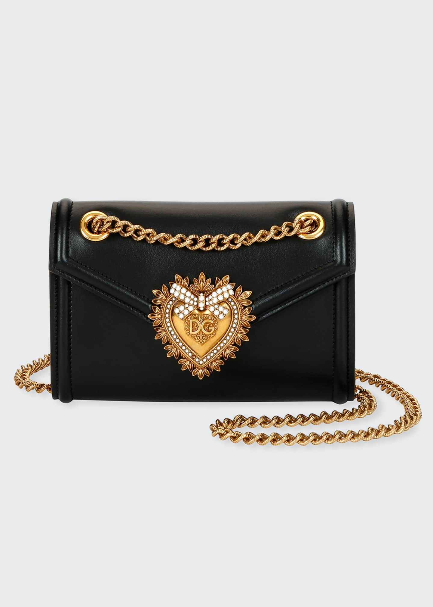 Dolce & Gabbana Devotion Mini Leather Crossbody Bag