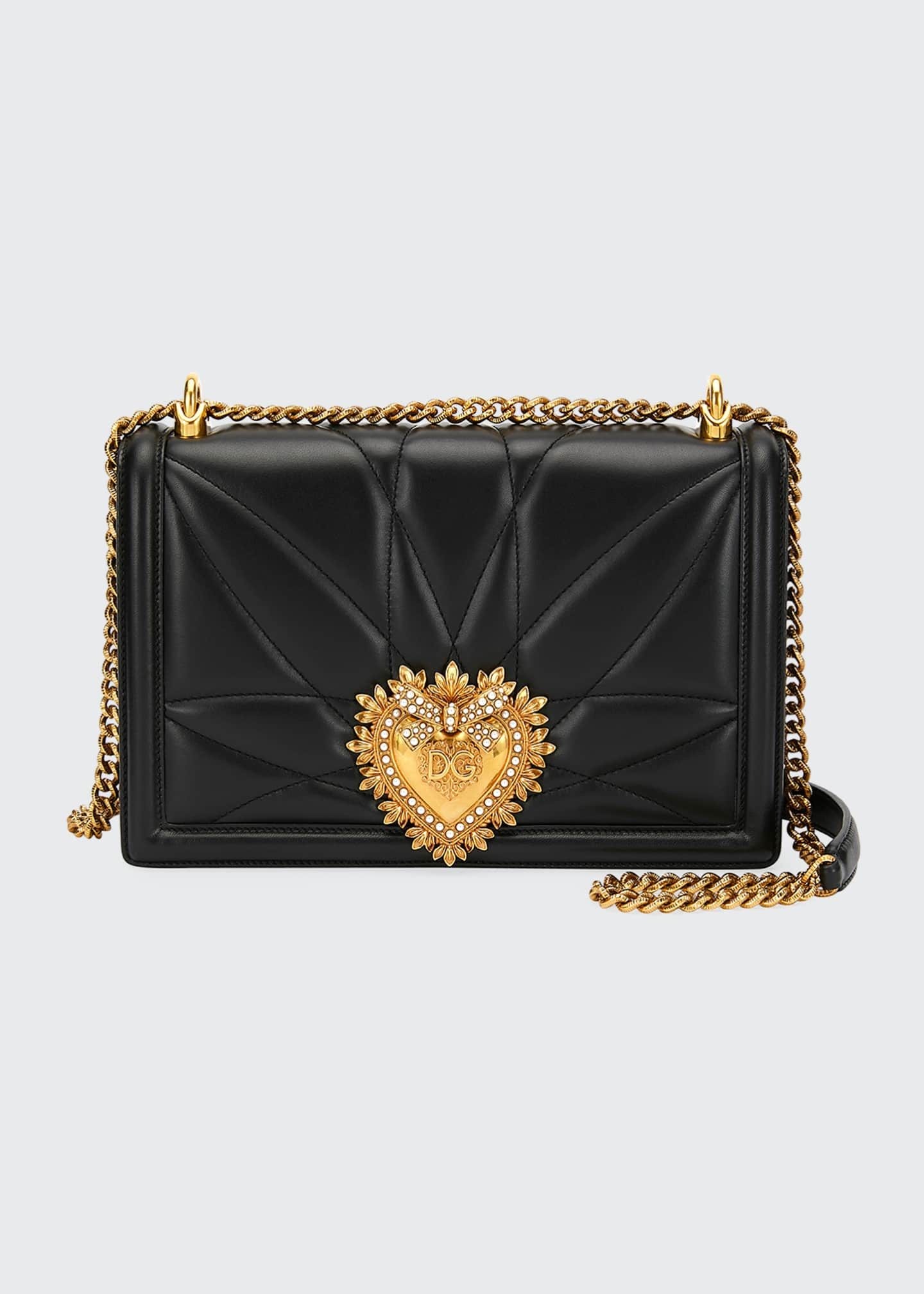 Dolce & Gabbana Devotion Large Quilted Shoulder Bag
