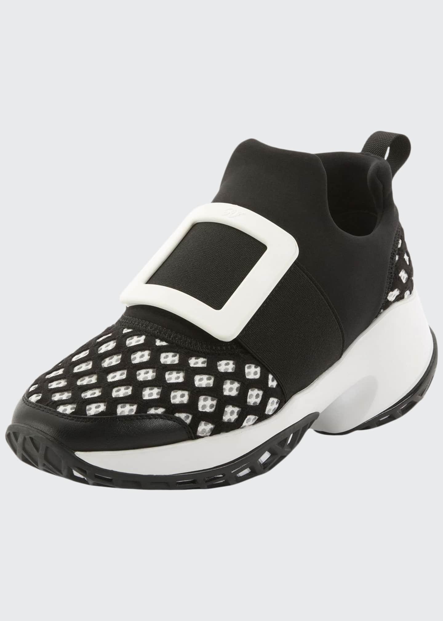 Roger Vivier Running Neoprene Buckle Snea