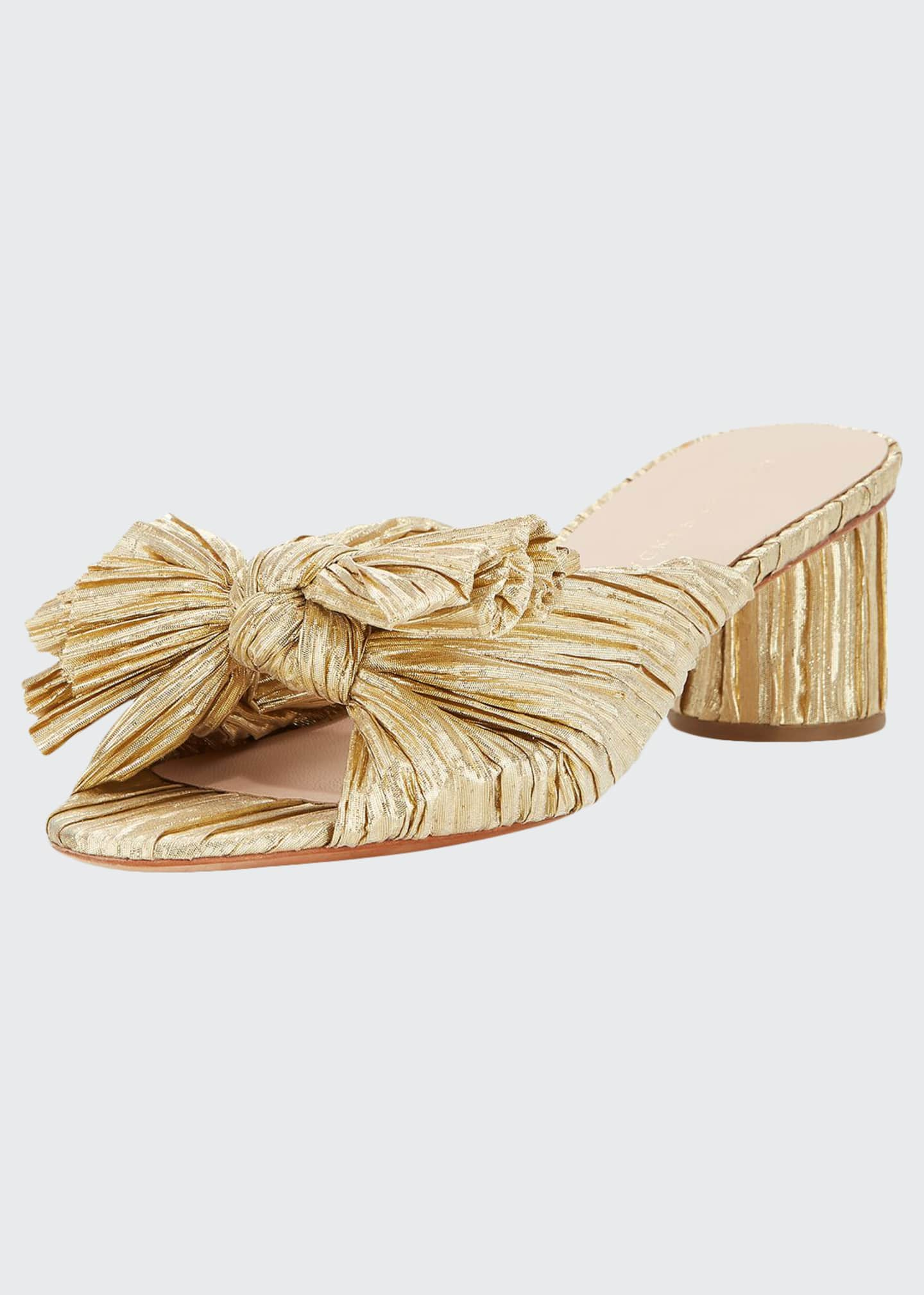 Loeffler Randall Emilia Pleated Knot Slide Sandals