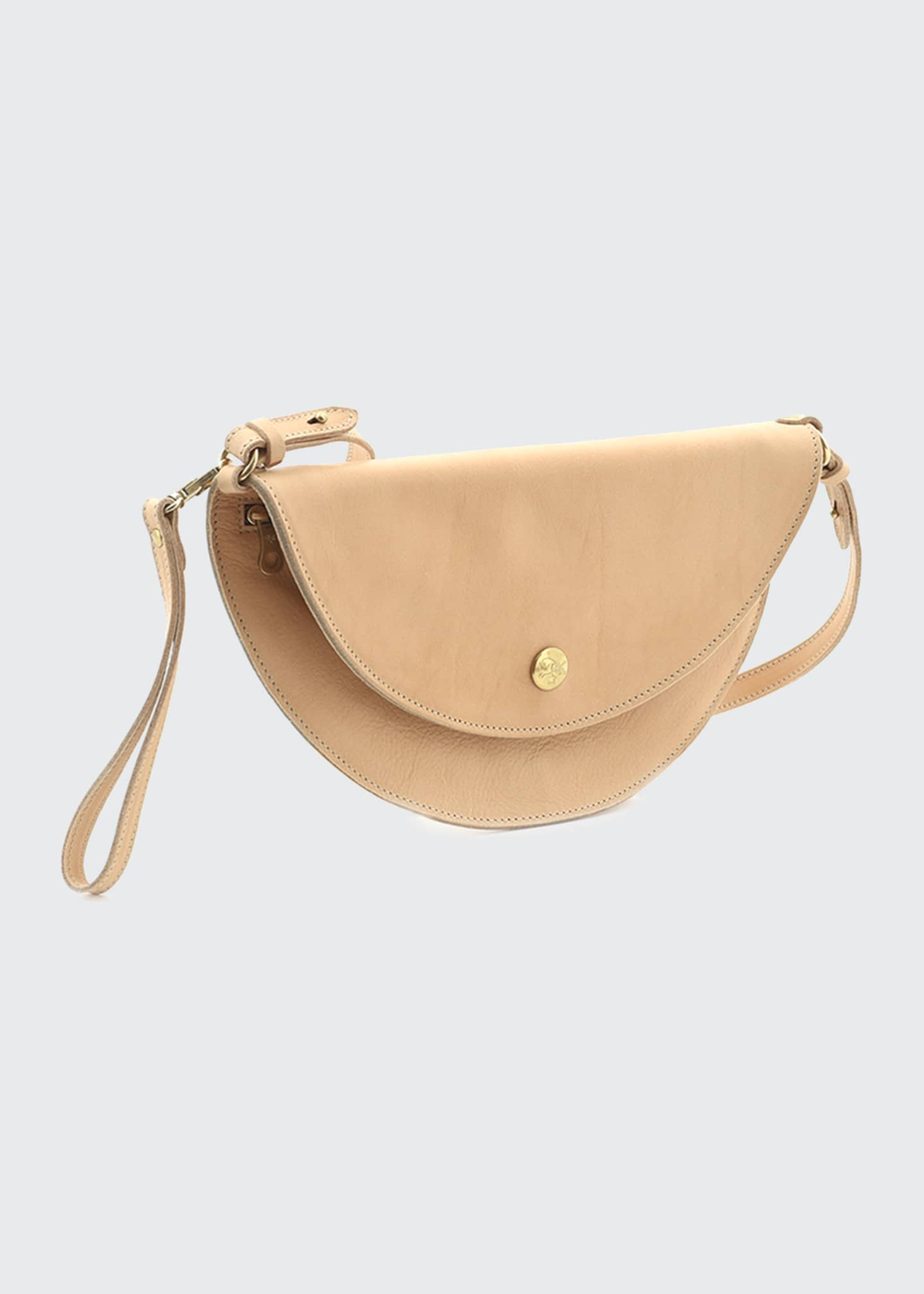 Image 1 of 3: Leather Moon Crossbody Bag