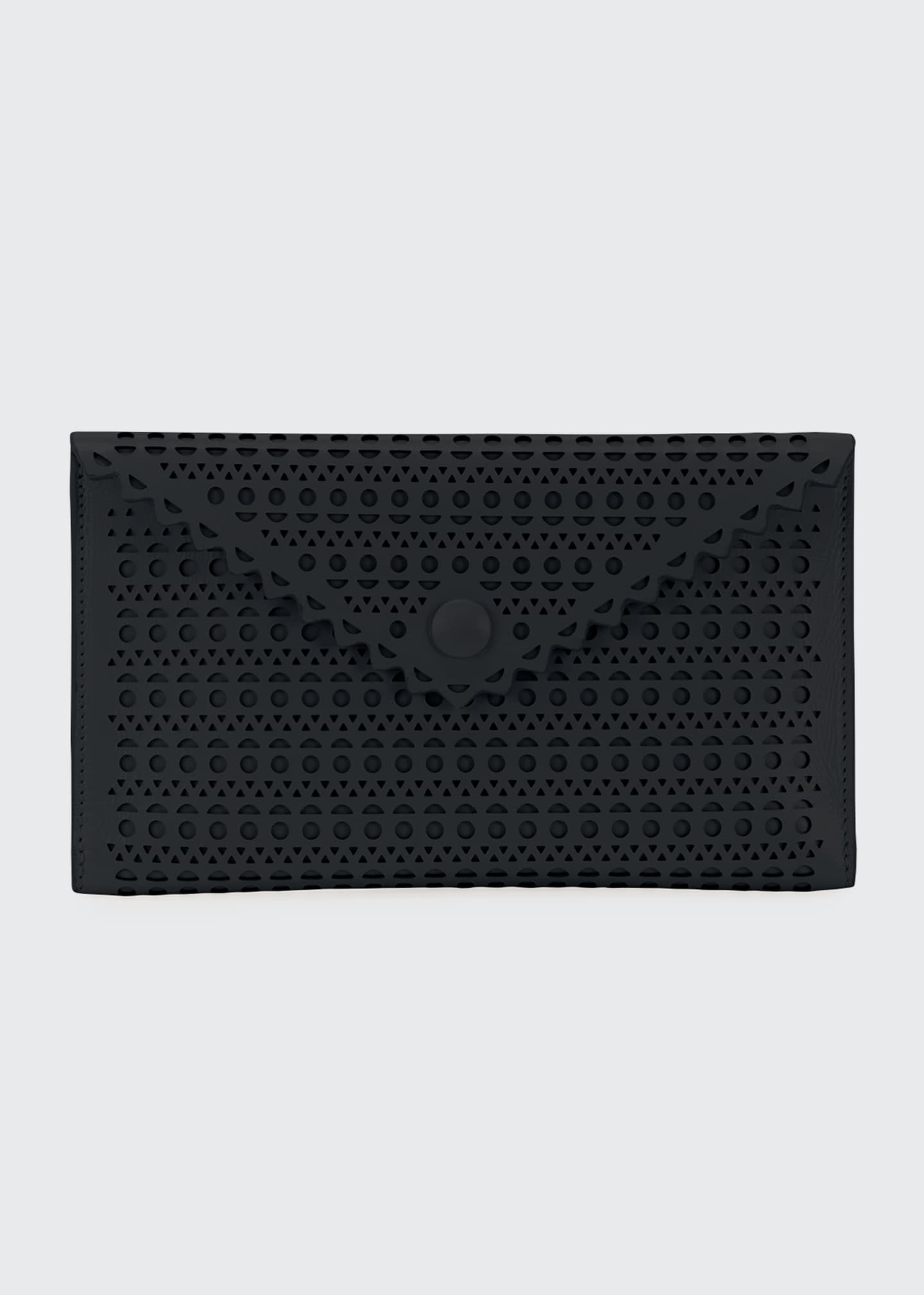 ALAIA Louise Double Mini Clutch Bag