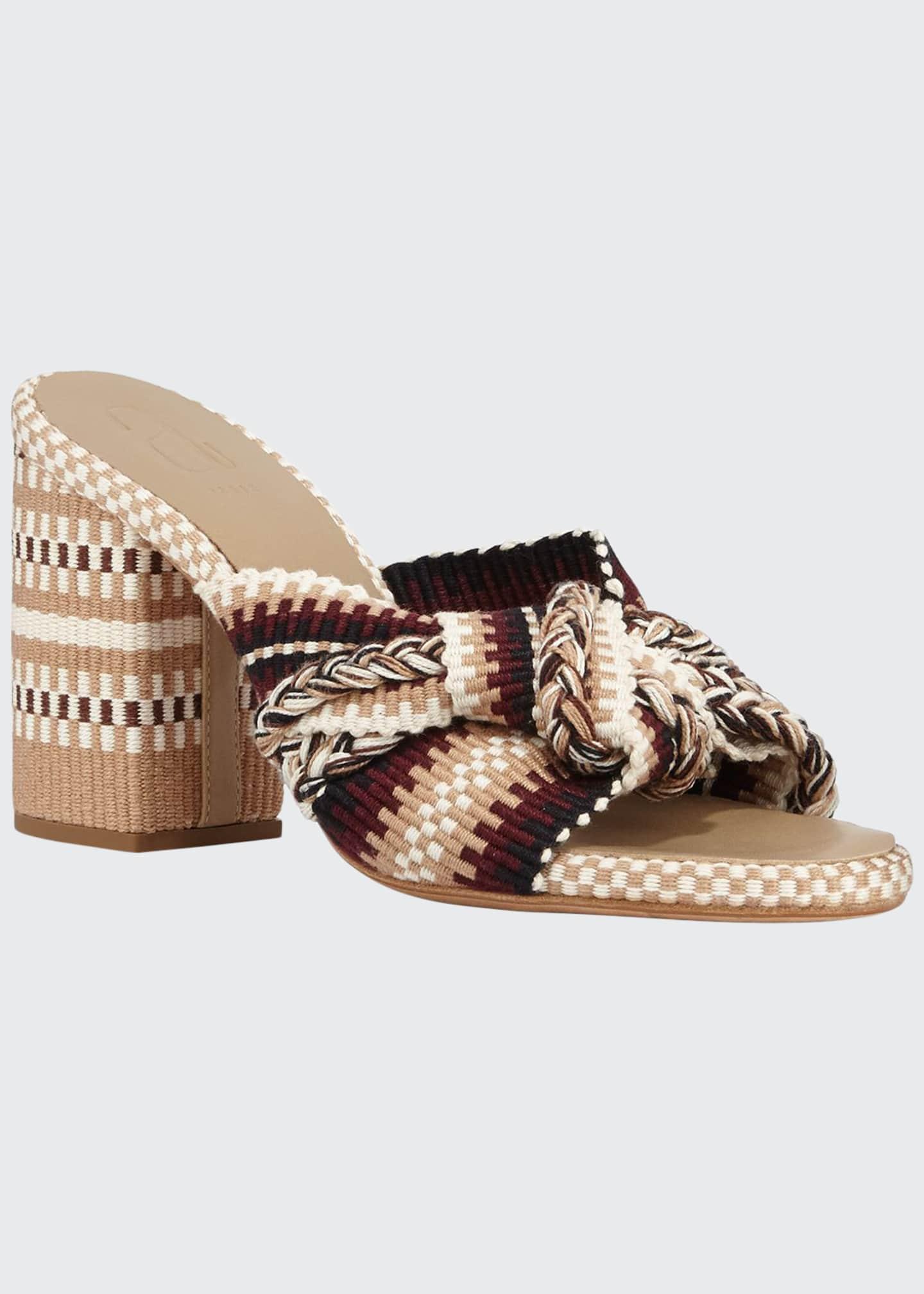 Antolina Biagia Block-Heel Slide Sandals