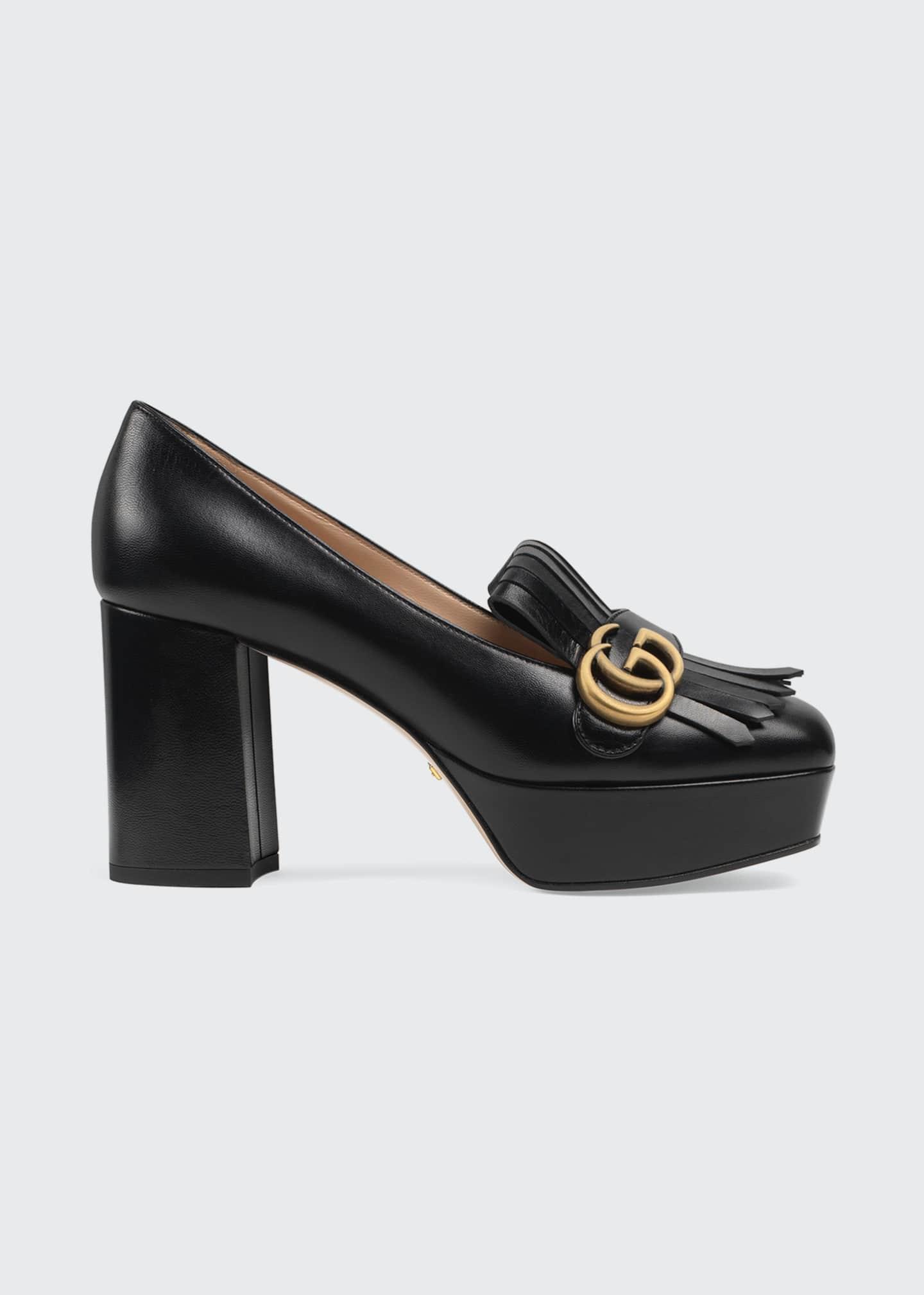 Gucci Marmont Kiltie Platform Pumps