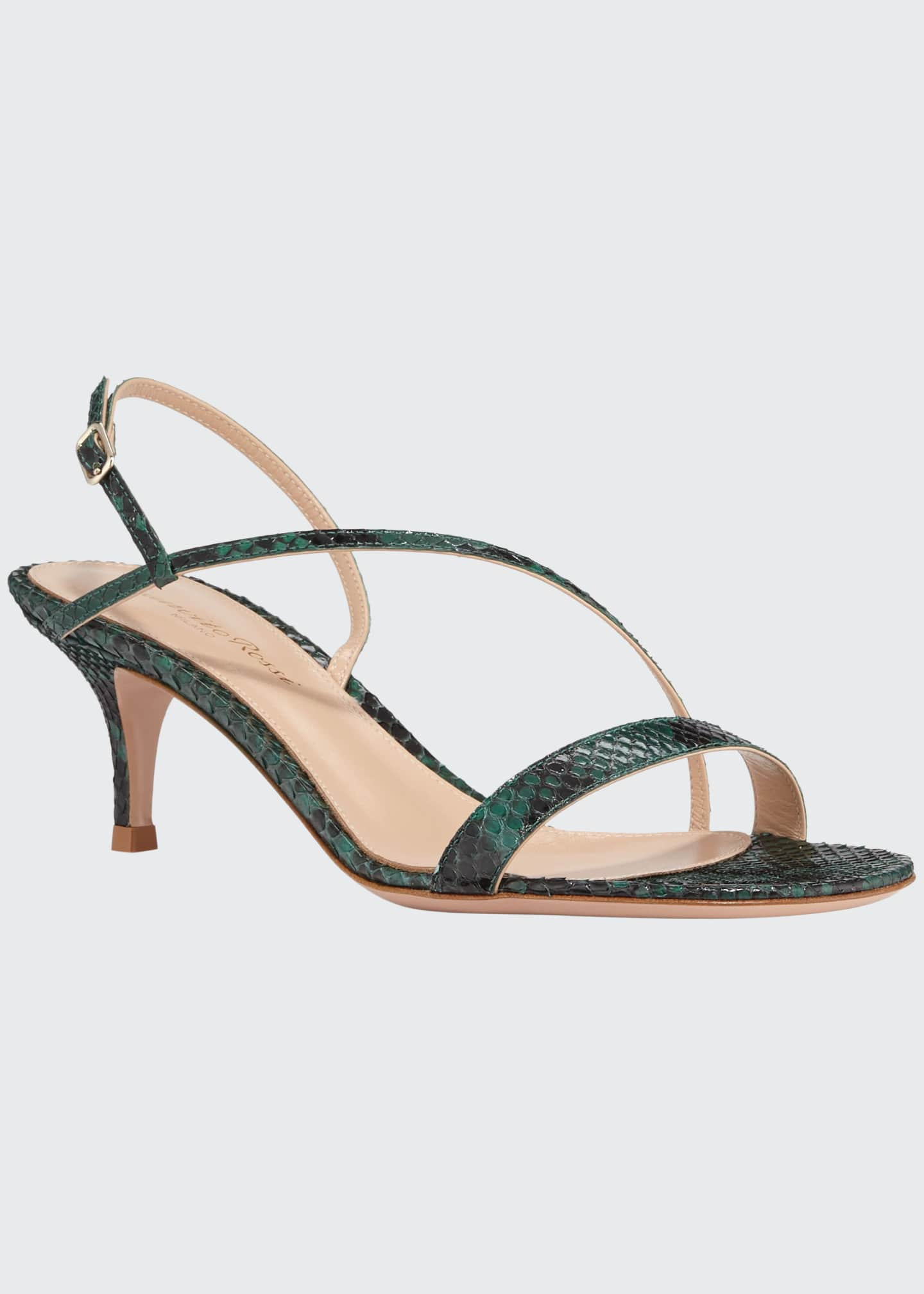 Image 1 of 3: Python Asymmetric Slingback Sandals