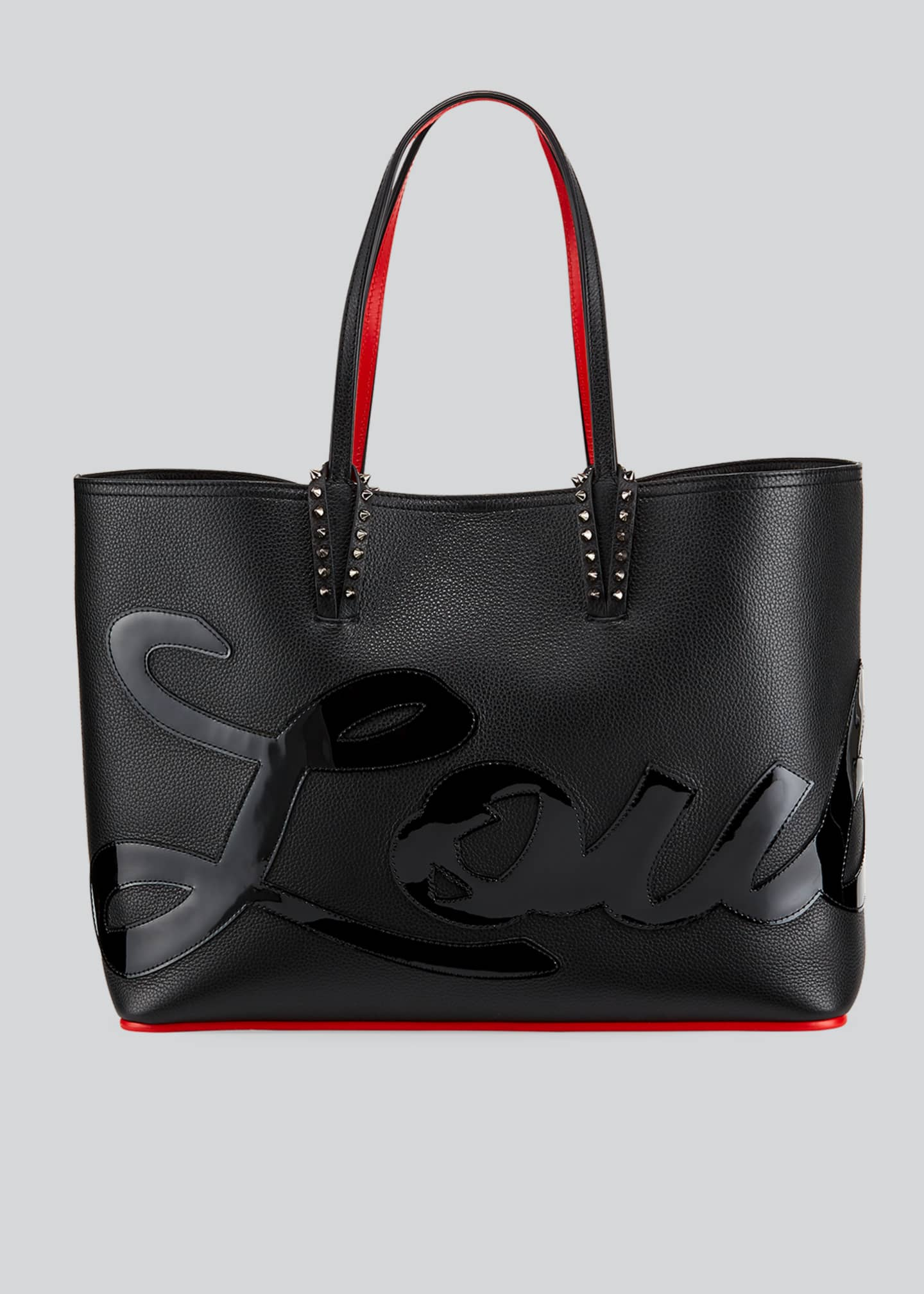 Christian Louboutin Cabata Logo Empire Leather Tote Bag