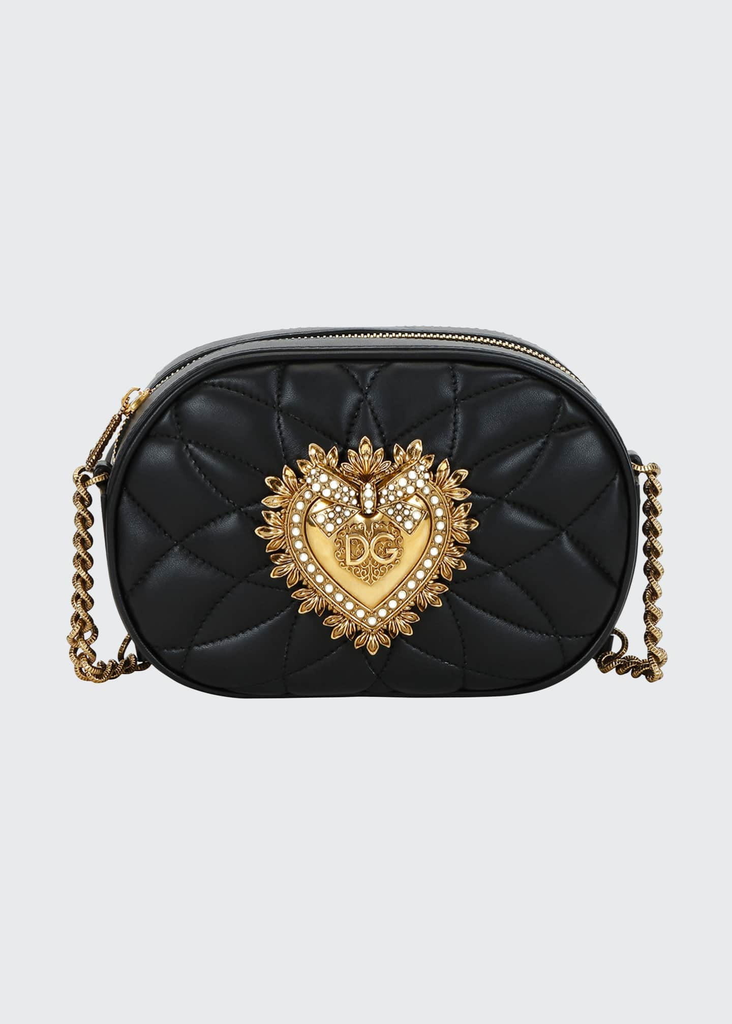 Dolce & Gabbana Devotion Leather Camera Bag with