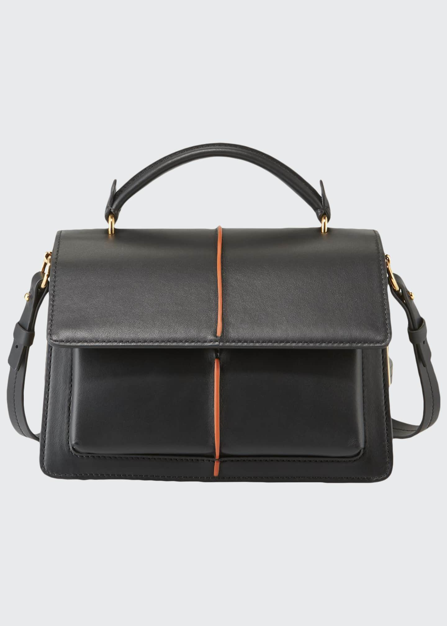 Image 1 of 3: Attache Leather Top Handle Bag