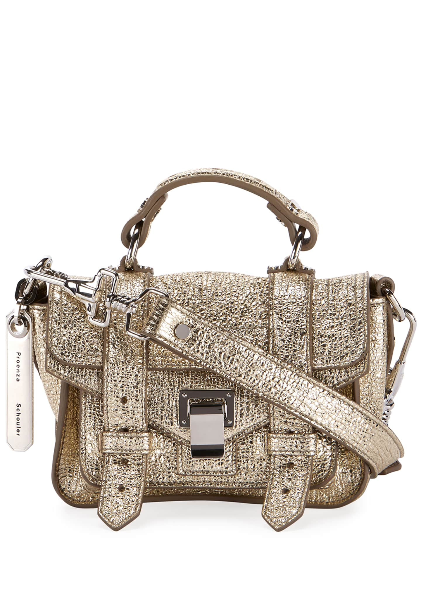 Proenza Schouler Ps1 Micro Lux Metallic Crossbody Bag