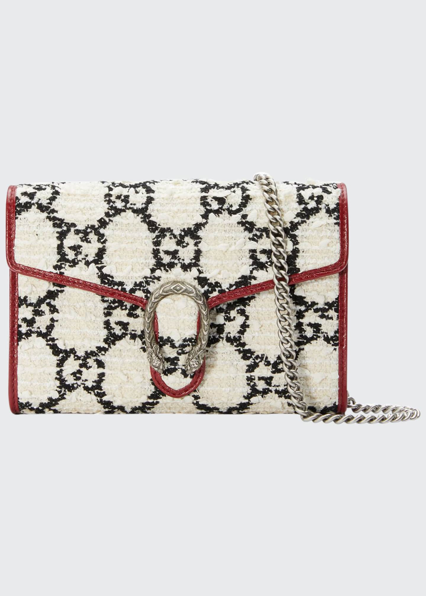 Gucci Dionysus GG-Tweed Wallet on Chain