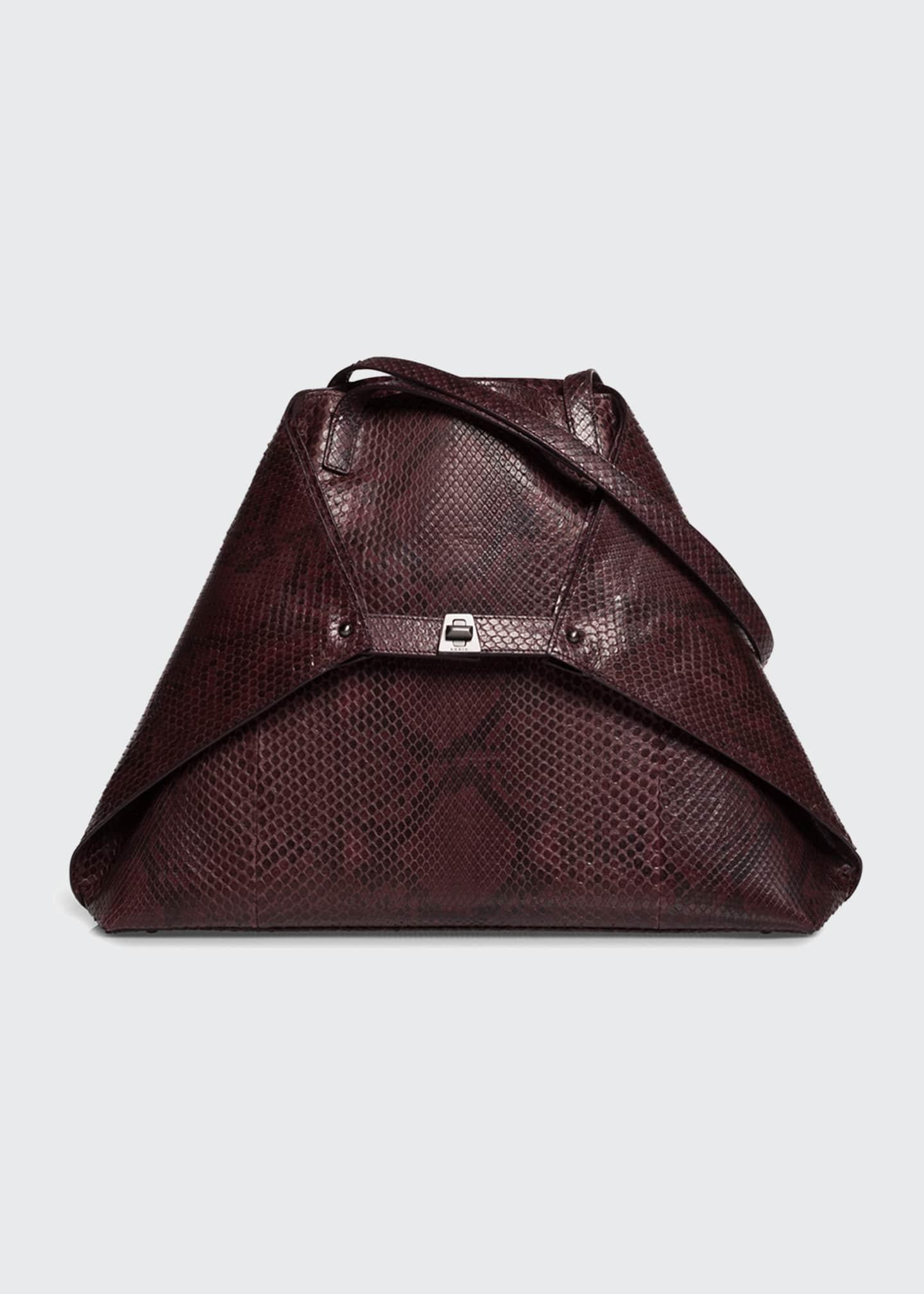 Akris AI Medium Soft Python Shoulder Bag