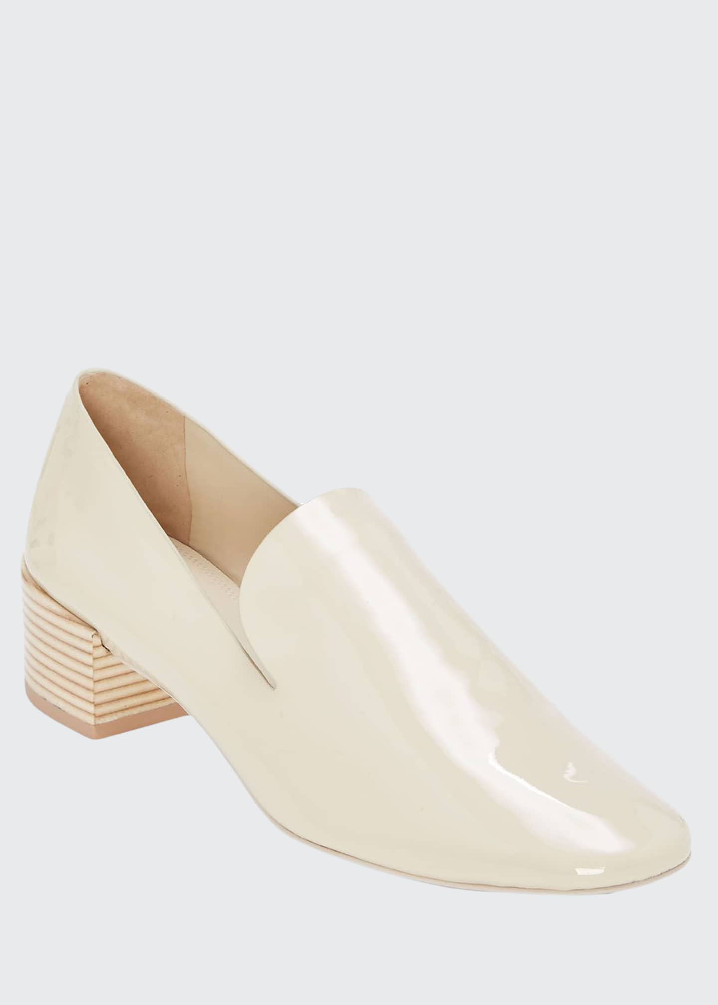 Mercedes Castillo Tillie Leather Block-Heel Loafers