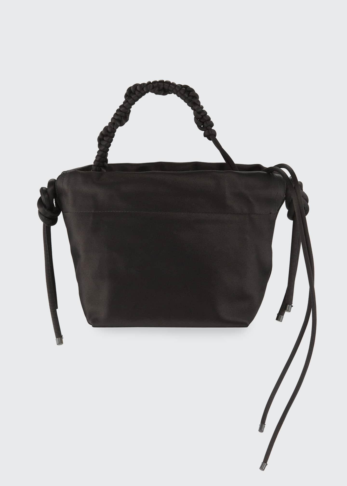 Dries Van Noten Satin Drawstring Bucket Bag