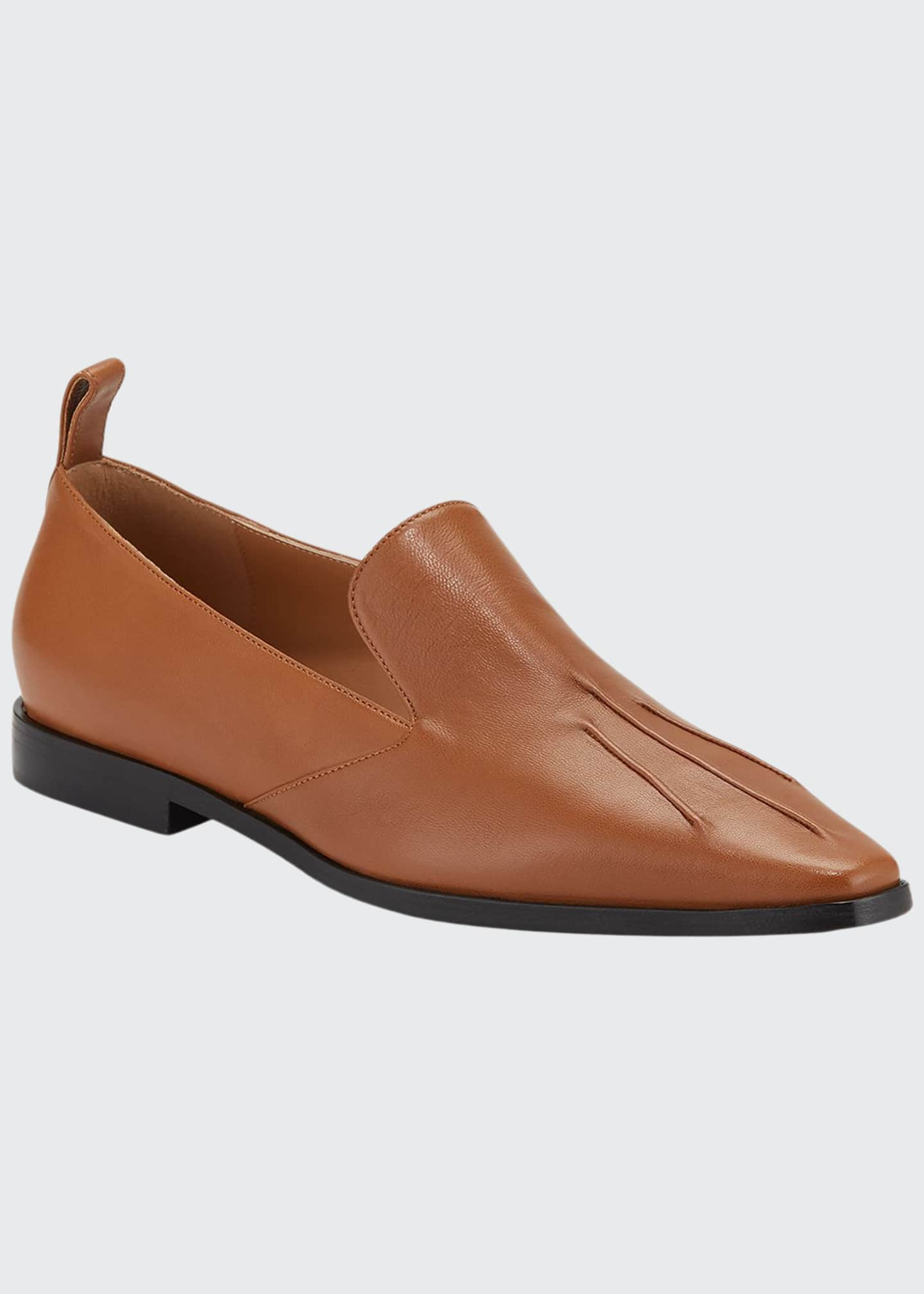 Dries Van Noten Flat Slip-On Leather Loafers
