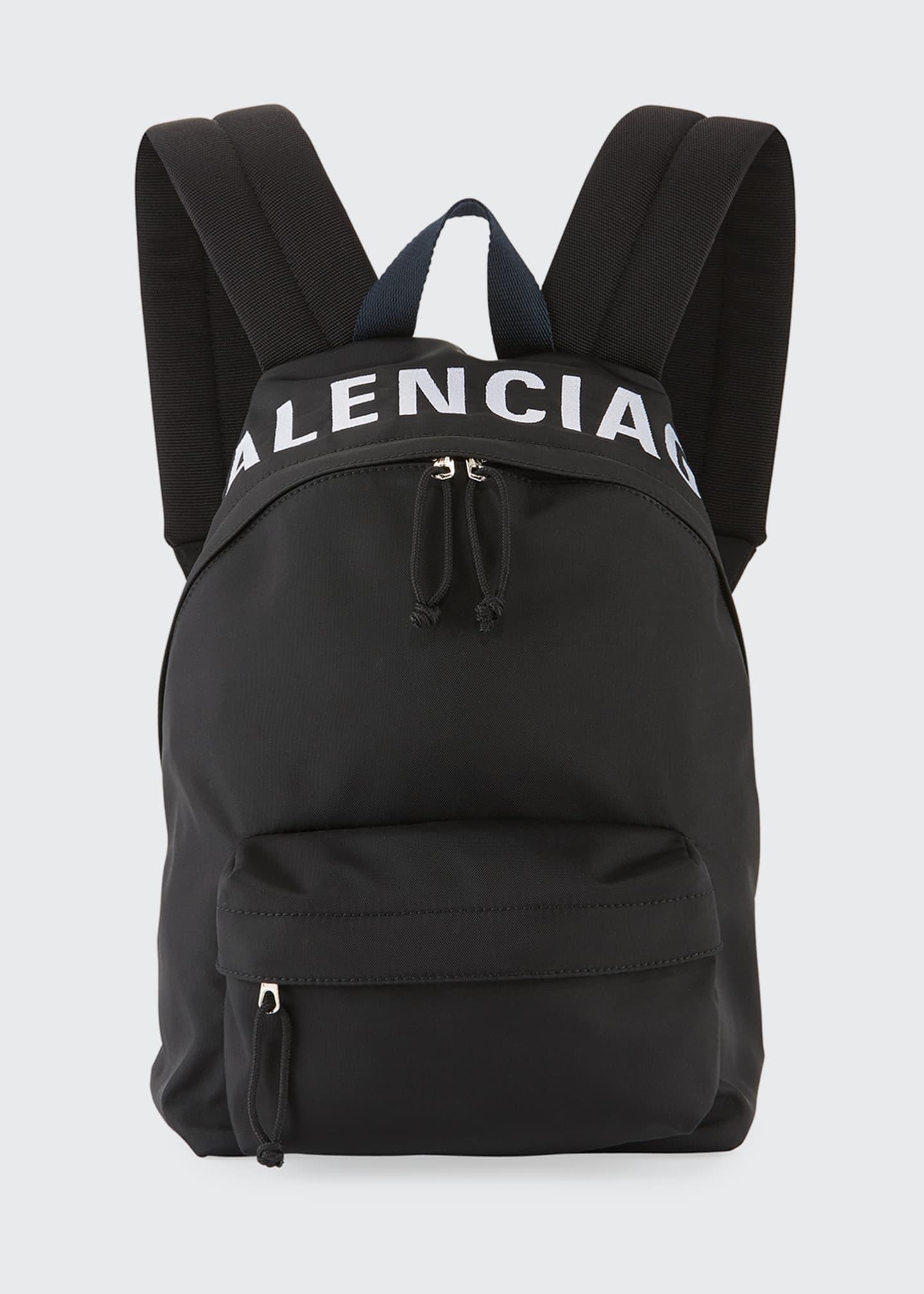 Balenciaga Wheel Small Nylon Logo Backpack Bag