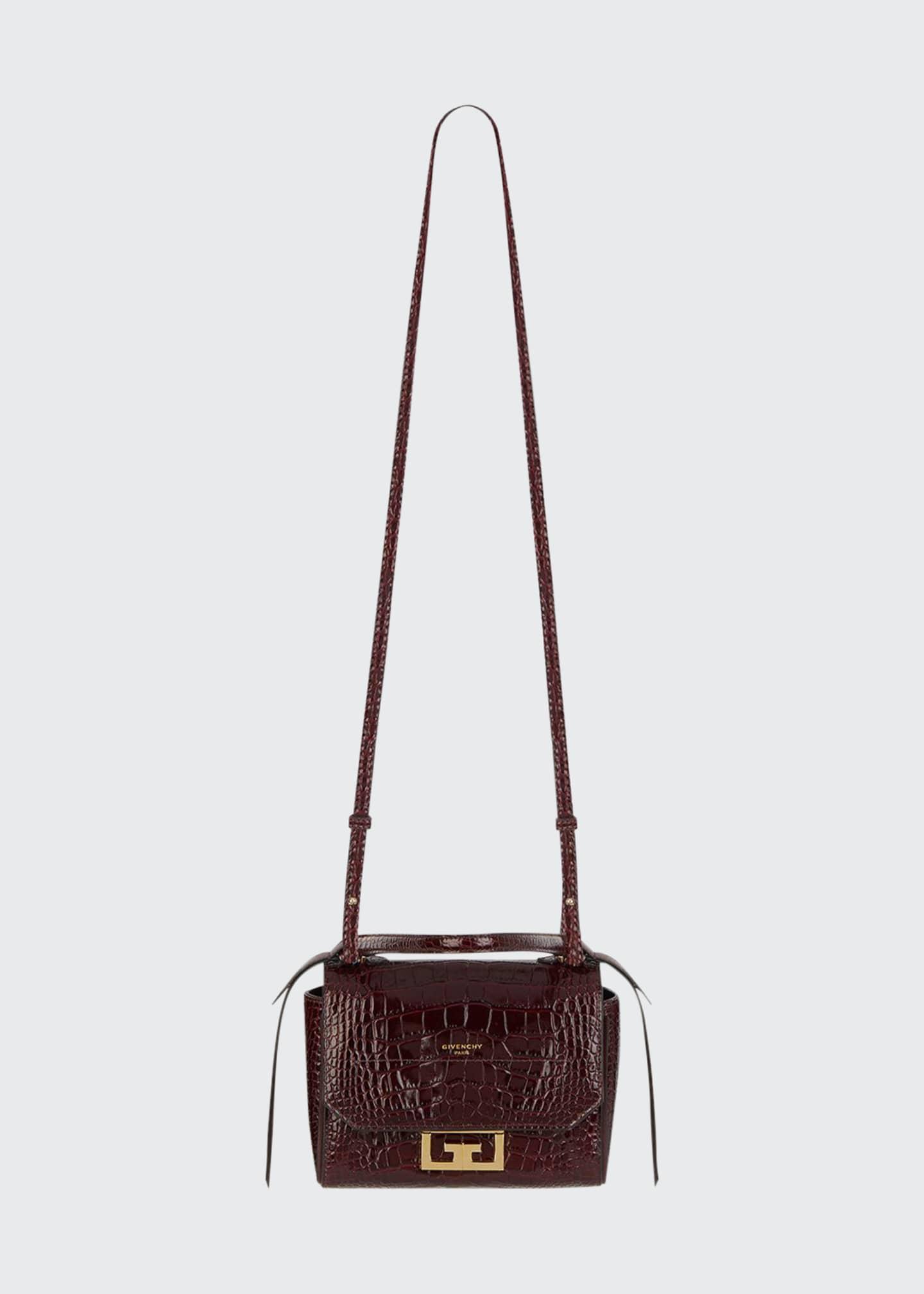 Givenchy Eden Mini Crocodile-Embossed Crossbody Bag