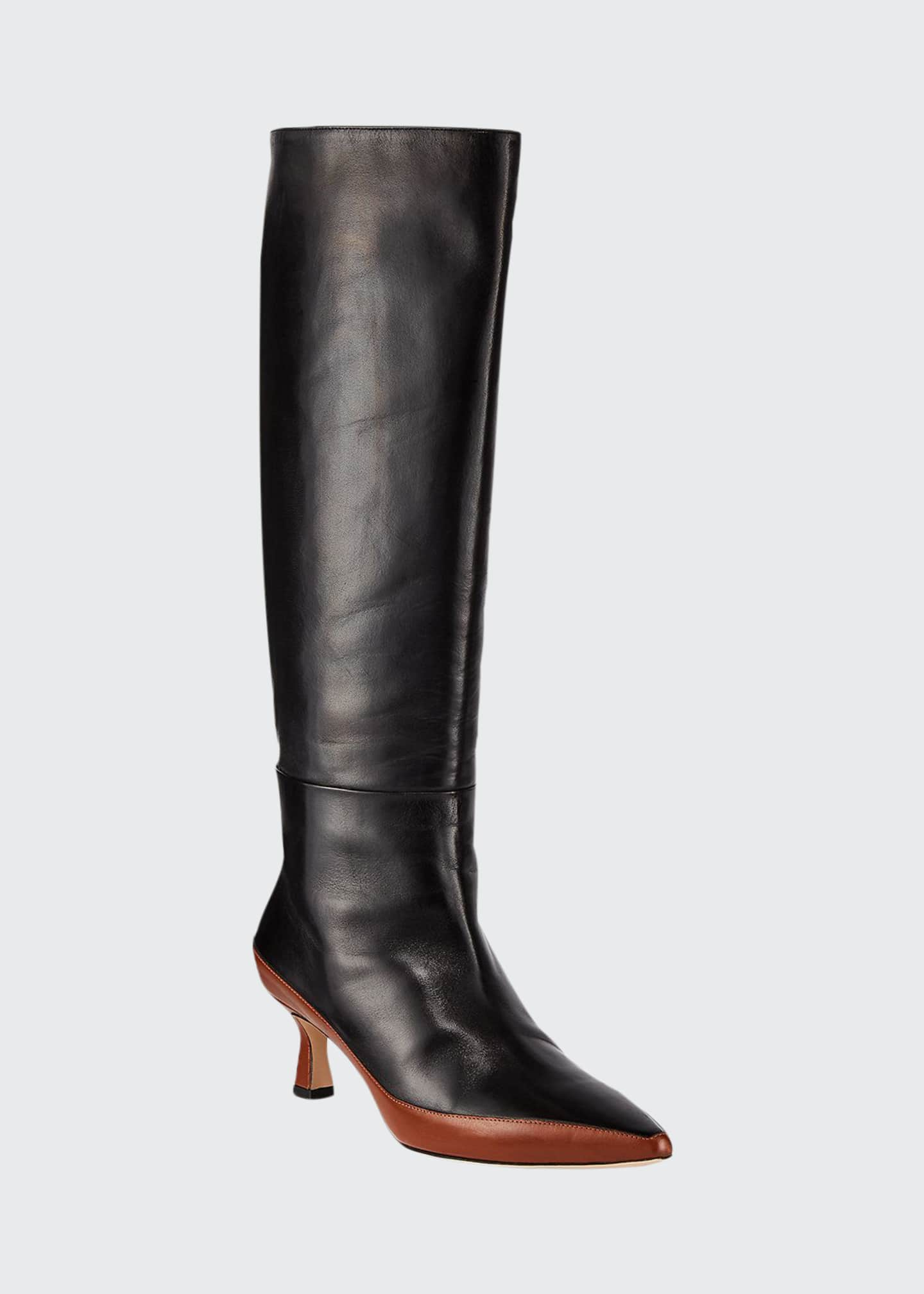 Wandler Bente Two-Tone Knee Boots