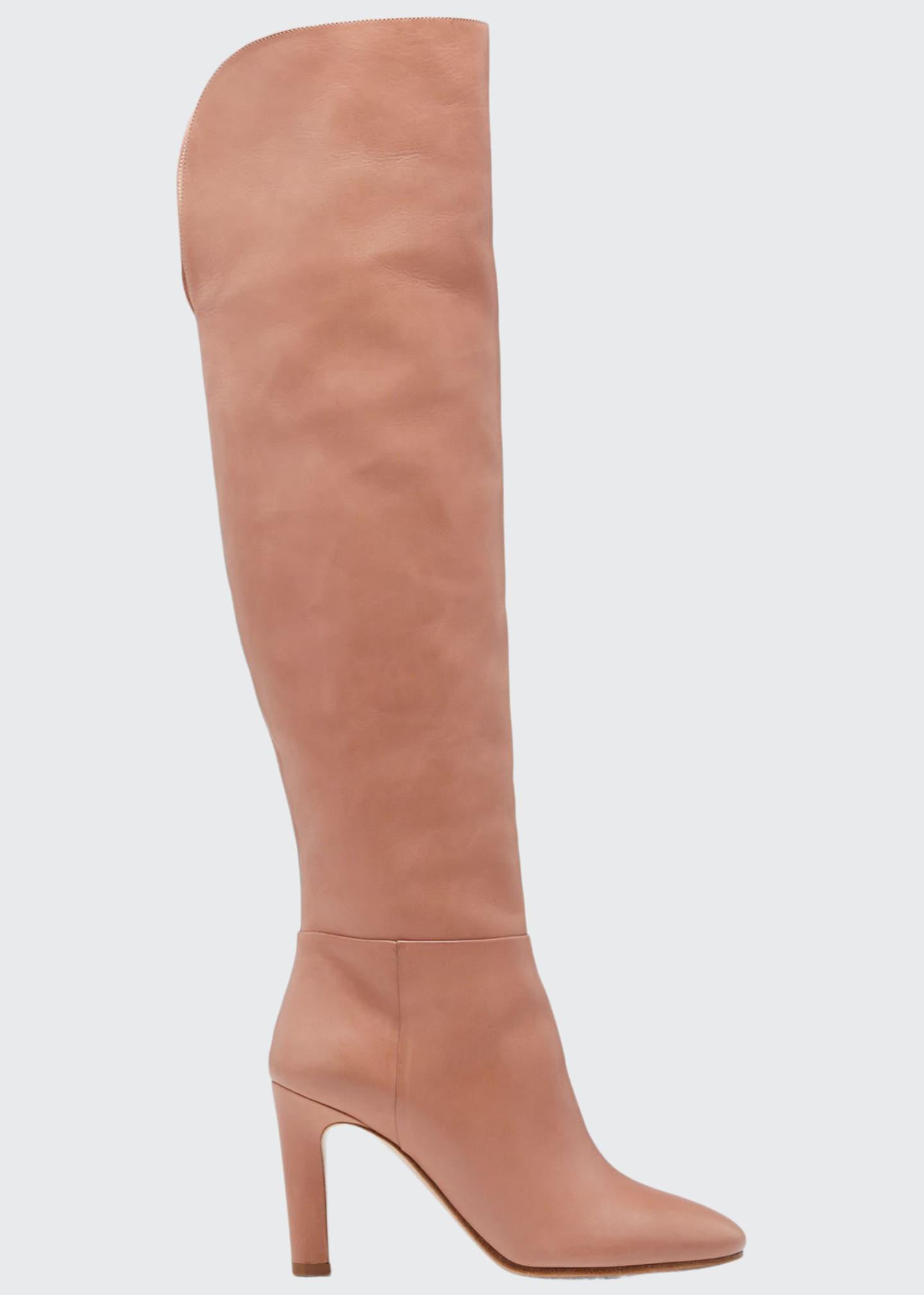 Gabriela Hearst Linda Leather Knee Boots