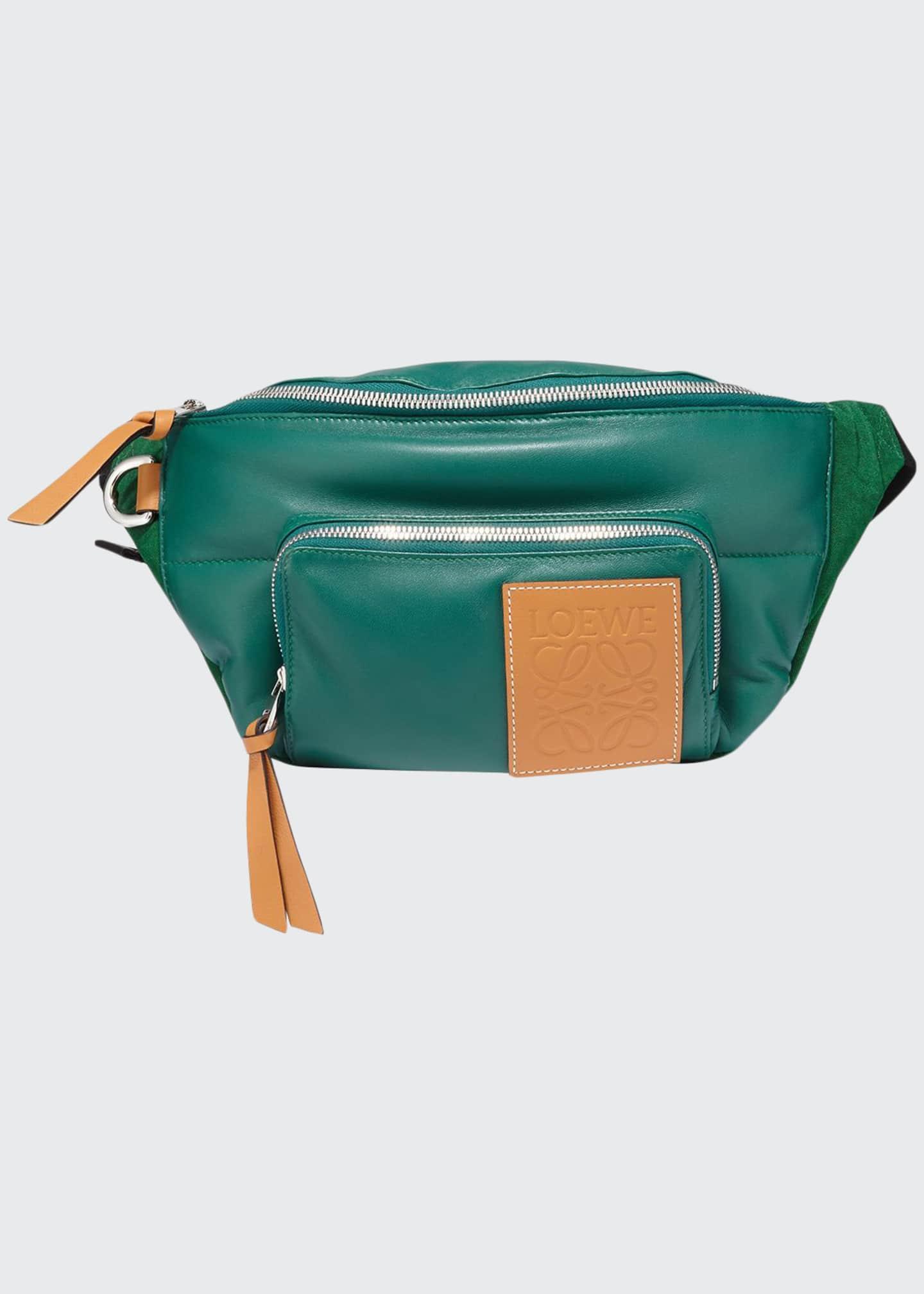 Loewe Men's Puffy Colorblock Lamb Leather Belt Bag/Fanny