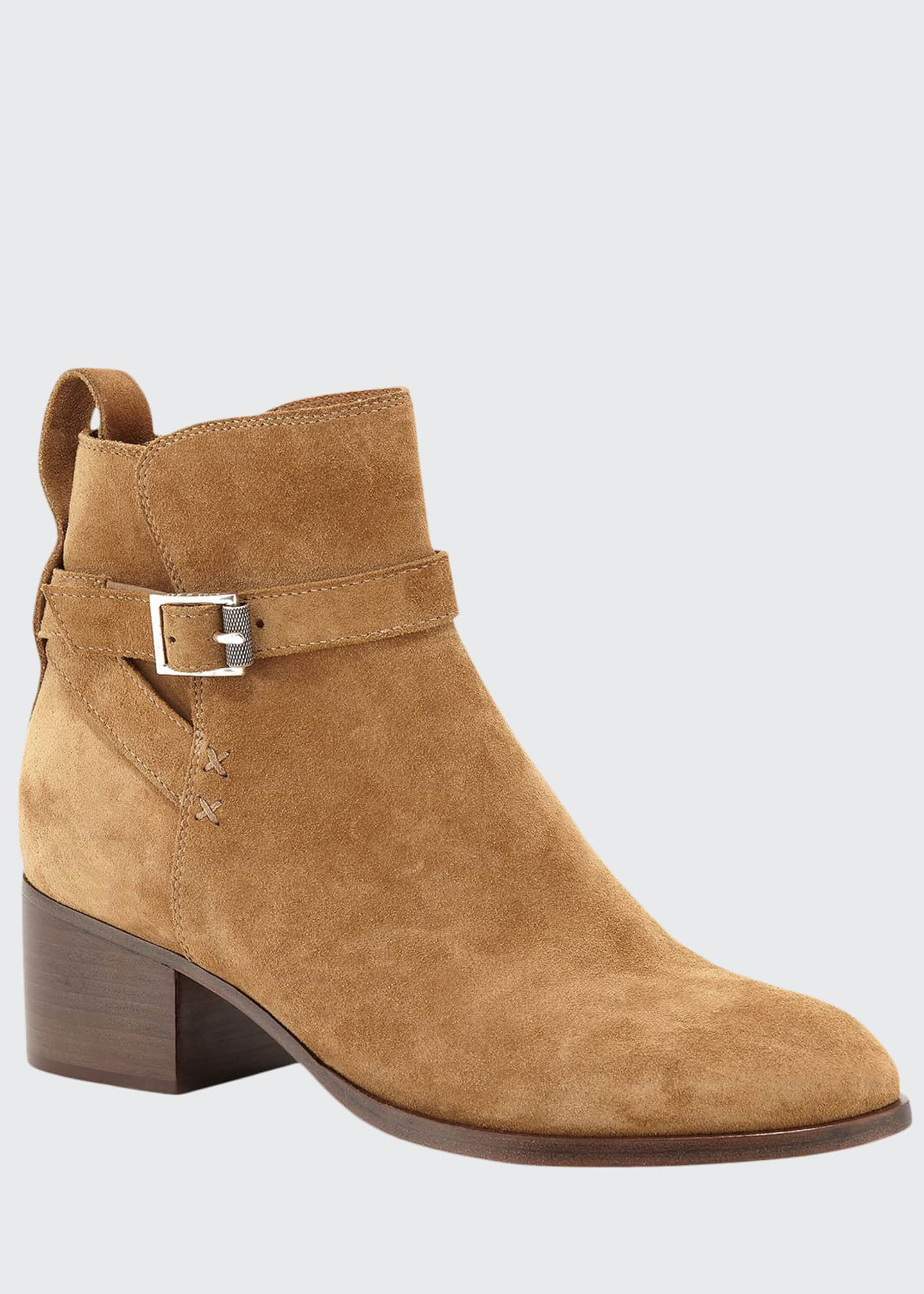 Rag & Bone Walker Buckle Suede Booties