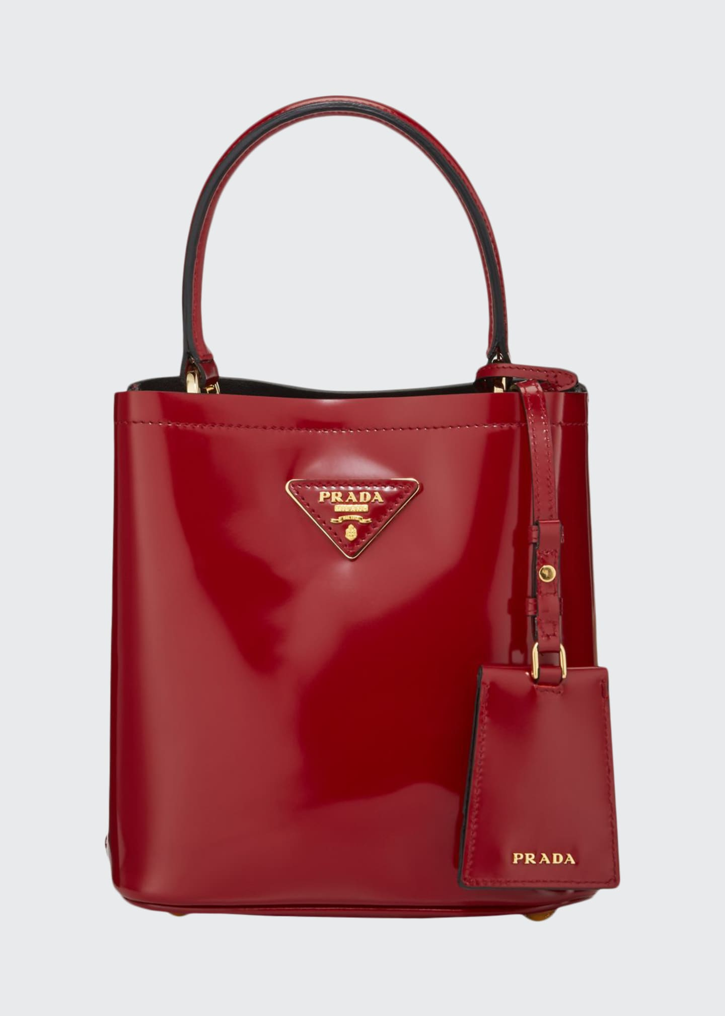 Prada Patent Leather Small Bucket Bag