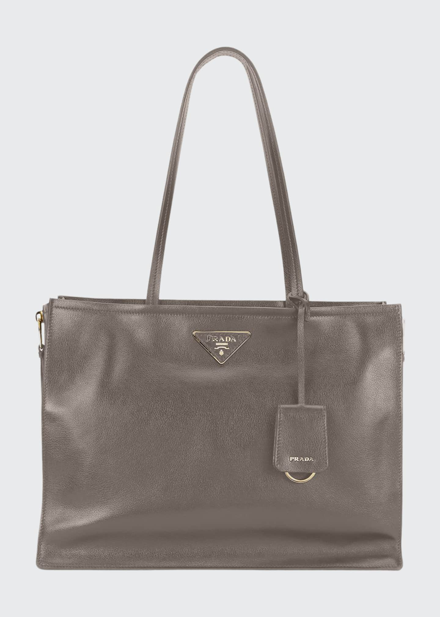 Image 1 of 3: Glace Calf Leather Tote Bag