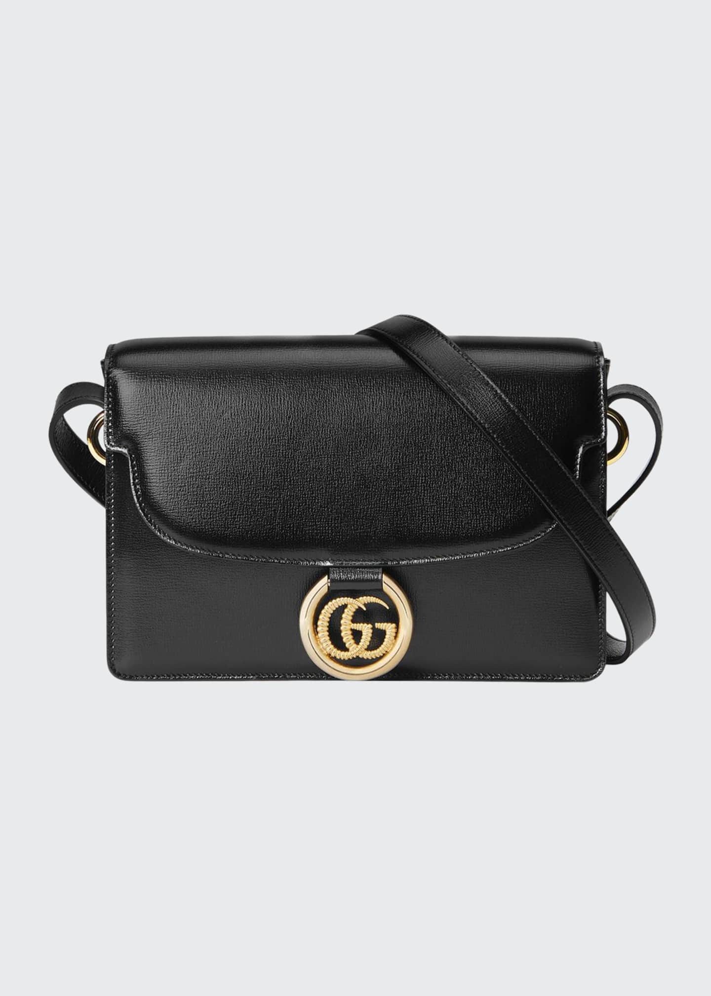 Image 1 of 4: GG Ring Small Leather Crossbody Bag