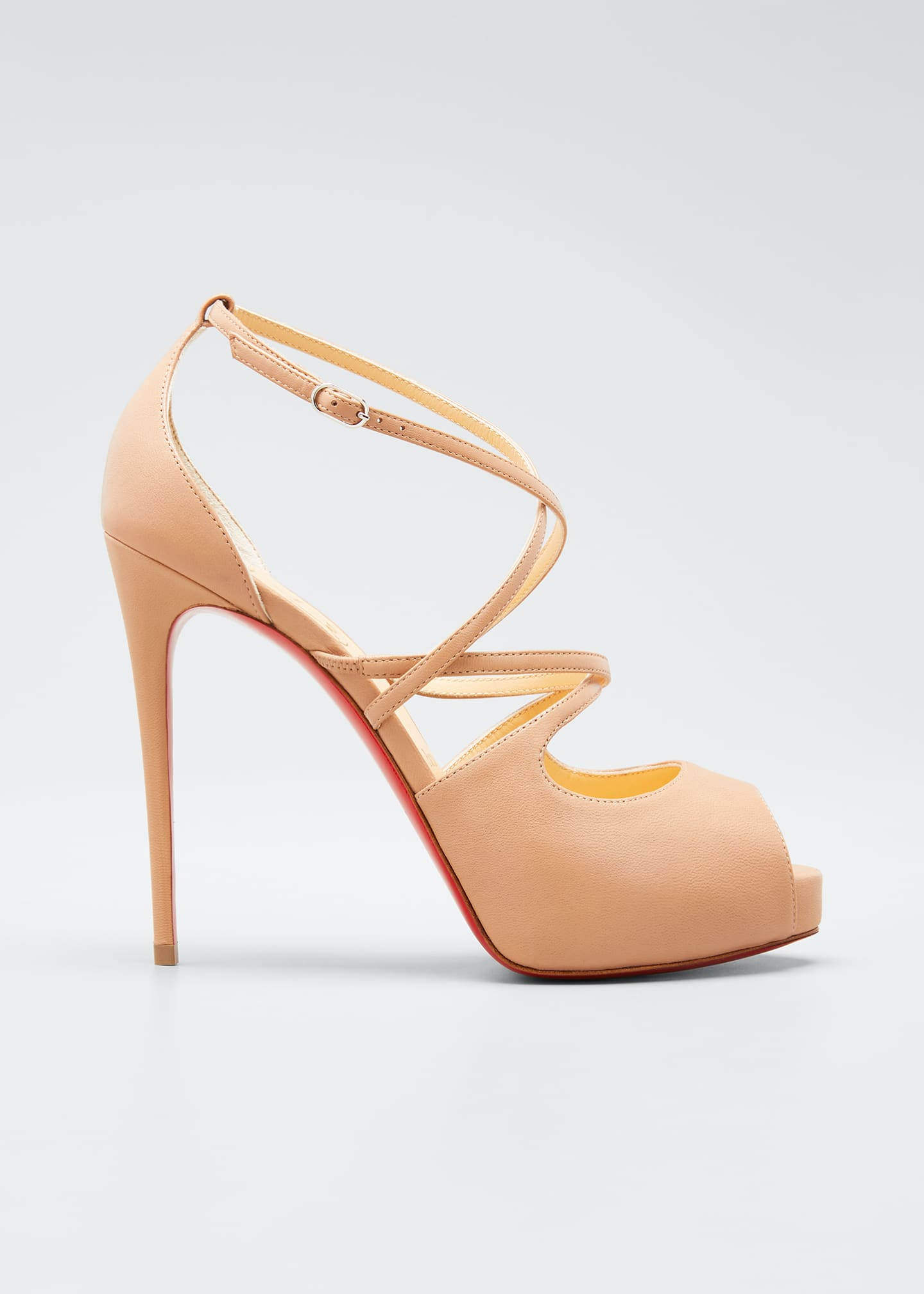 Christian Louboutin Holly Crisscross Red Sole Sandals
