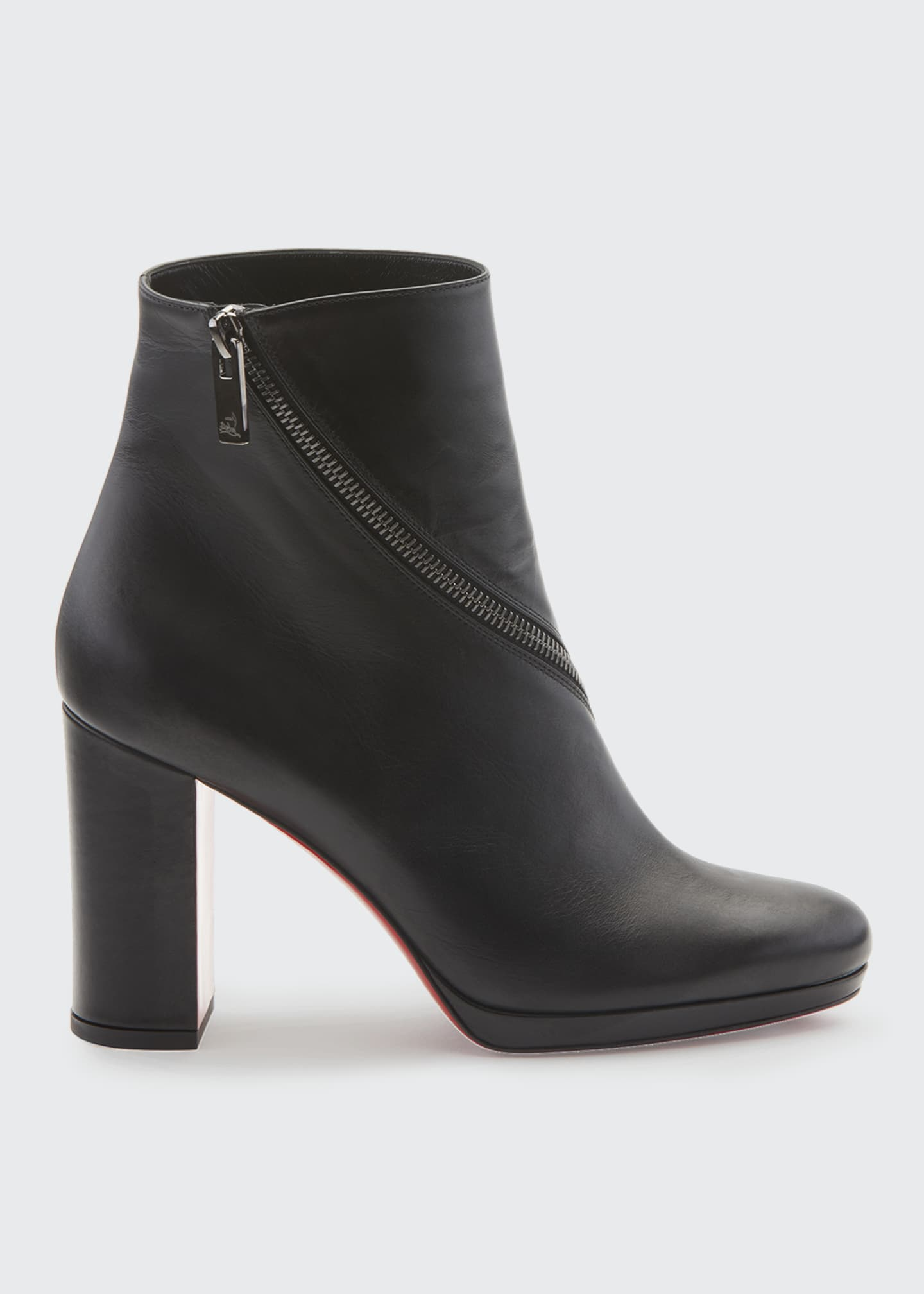 Christian Louboutin Birgitta Red Sole Zip Booties