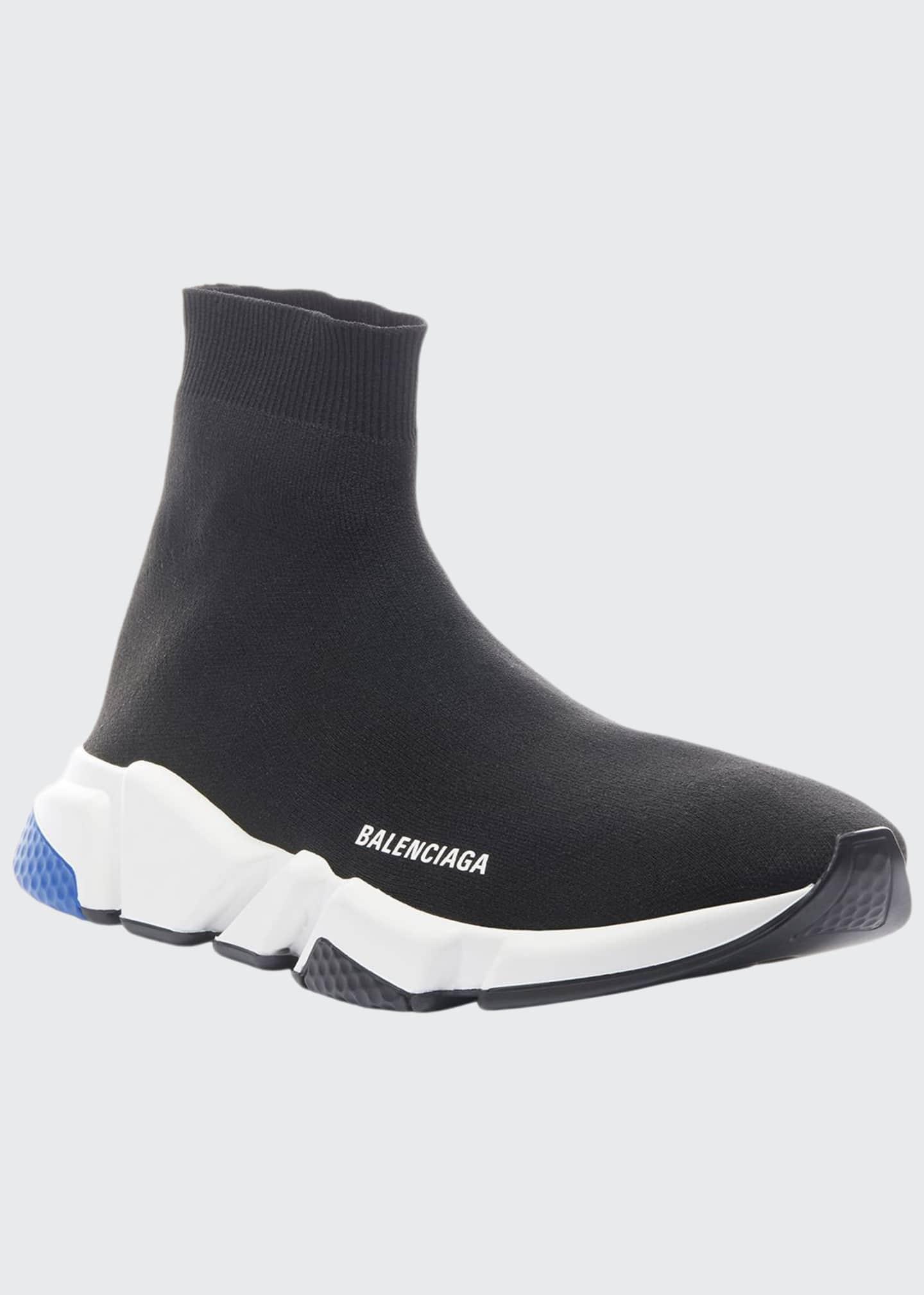Balenciaga Men's Speed Knit High-Top Sock Sneakers