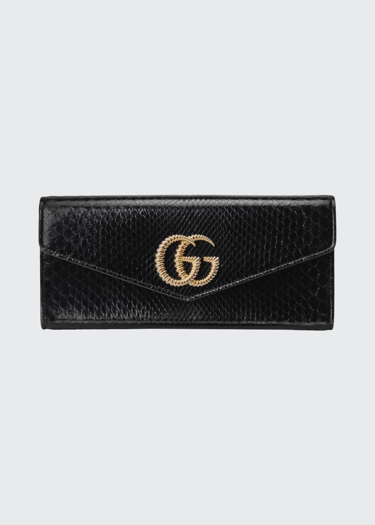 Gucci Broadway Python Evening Clutch Bag