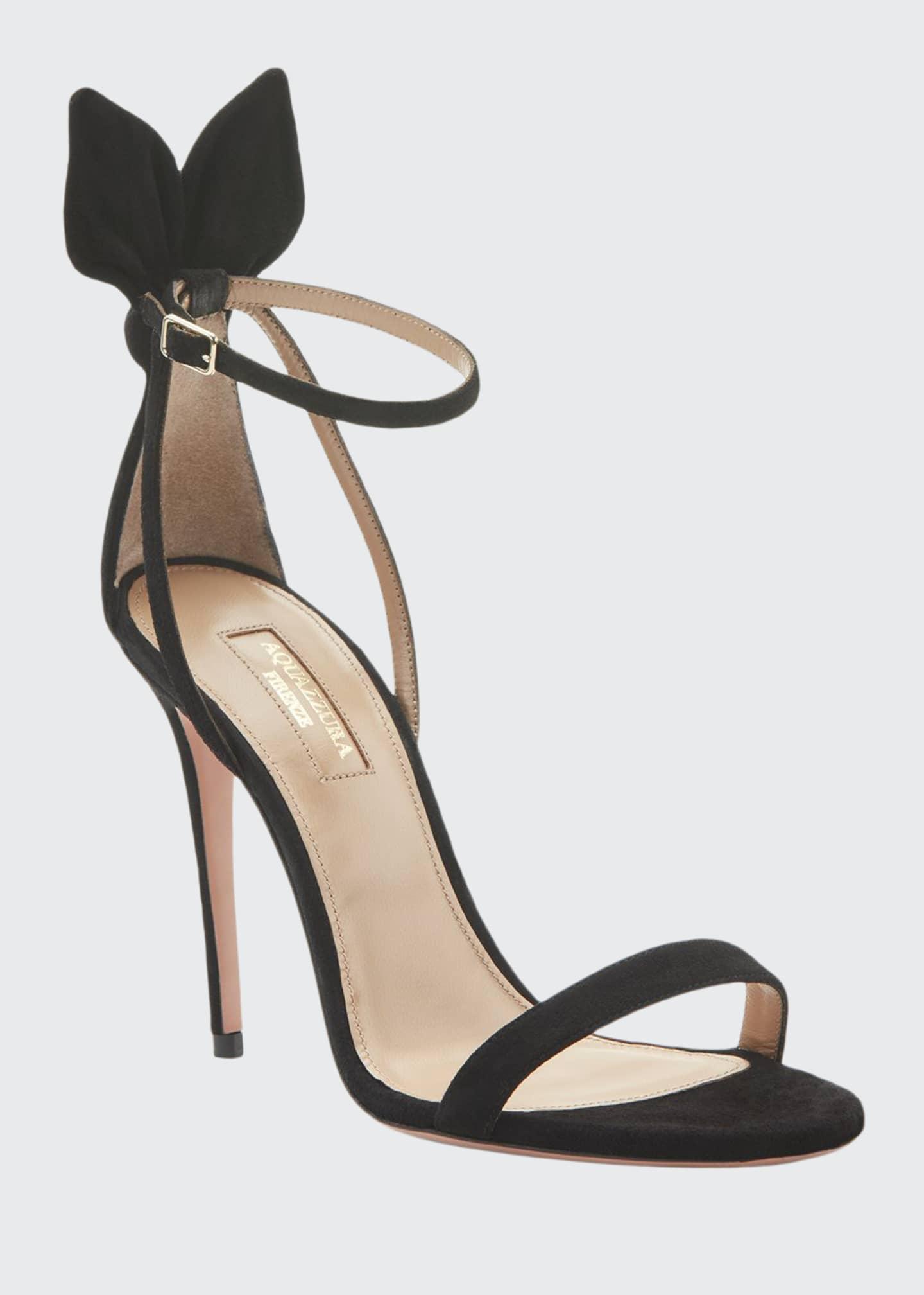 Deneuve Suede Ankle Sandals by Aquazzura