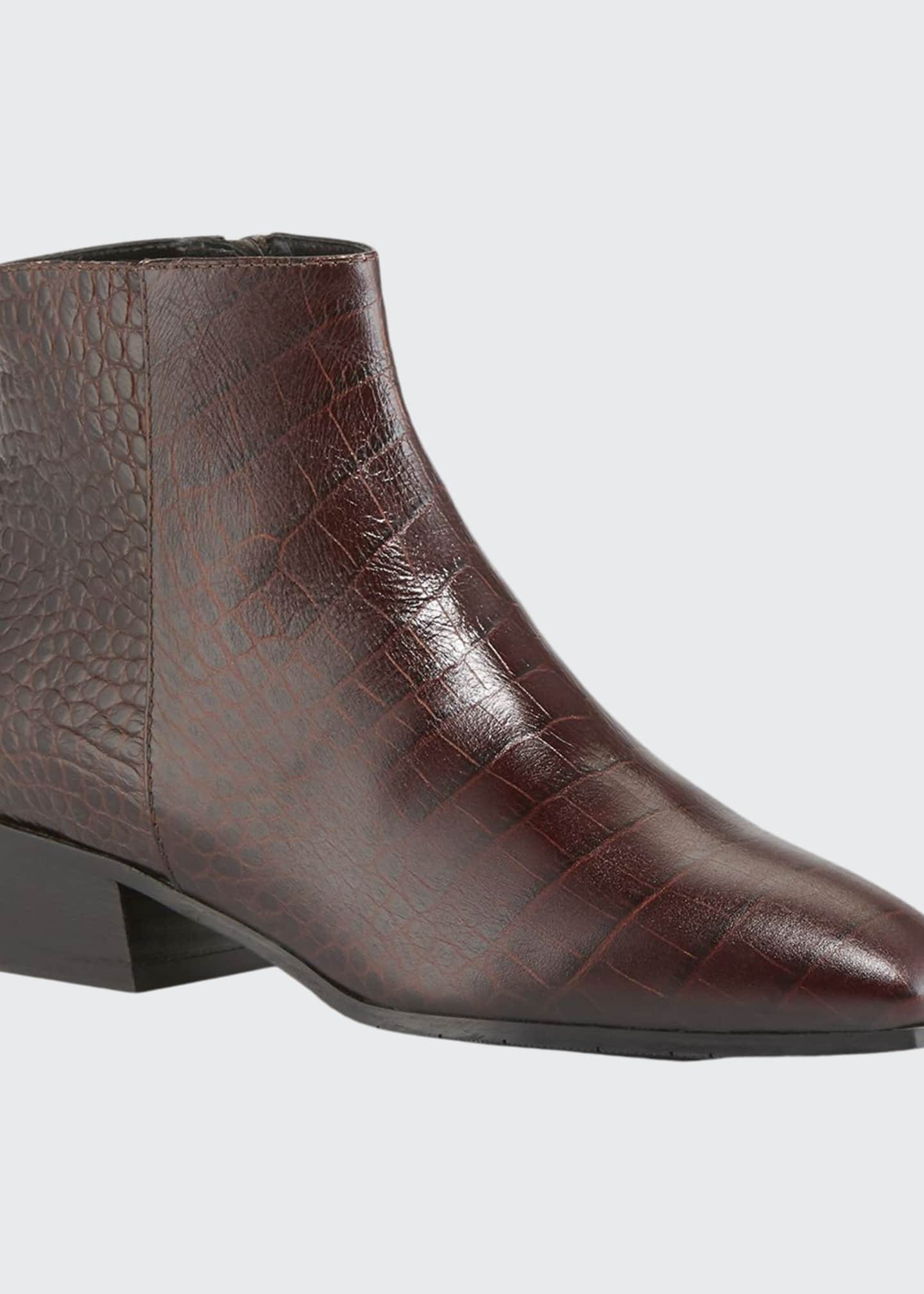 Aquatalia Fuoco Embossed Leather Booties