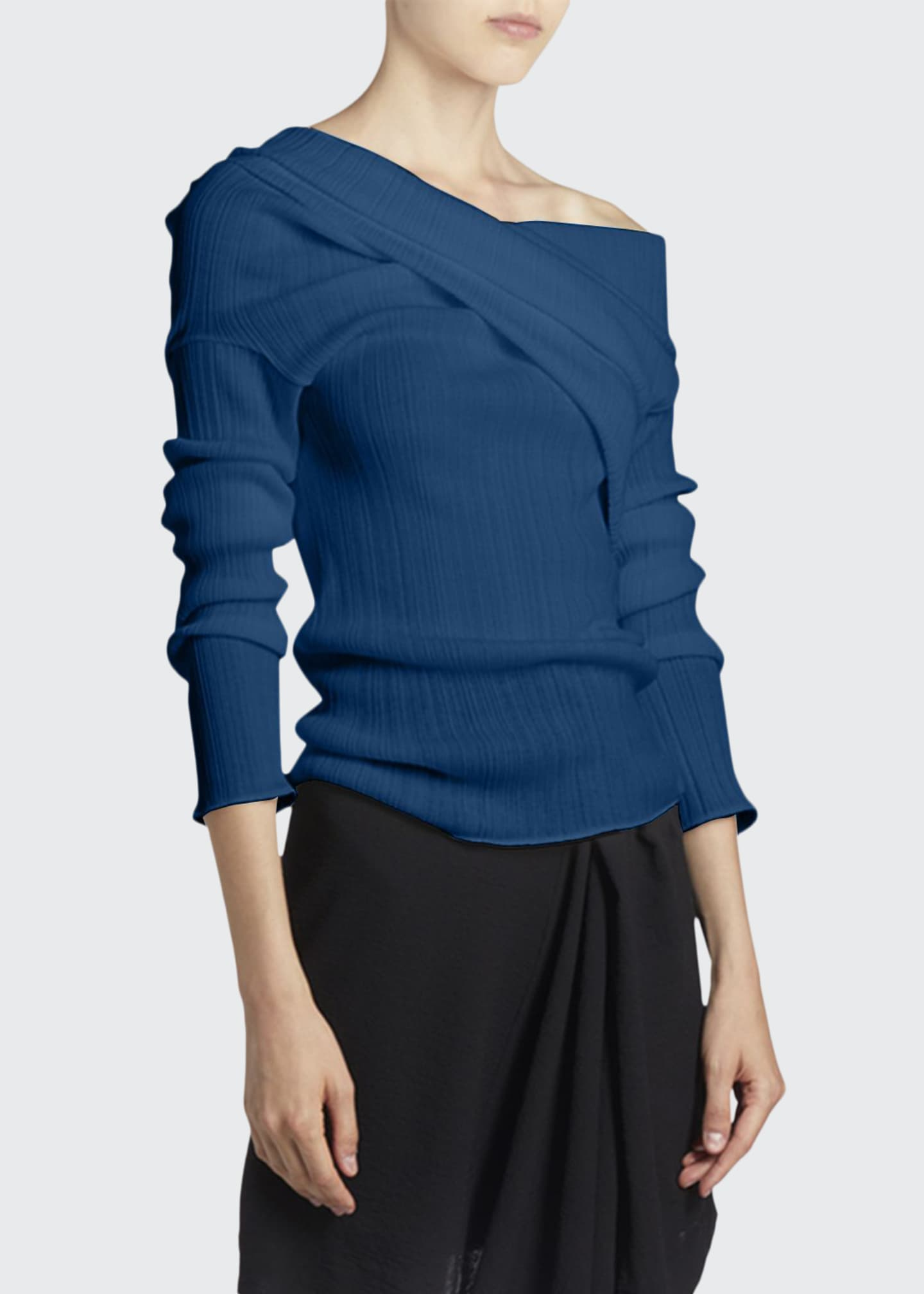 Nina Ricci One-Shoulder Knit Top