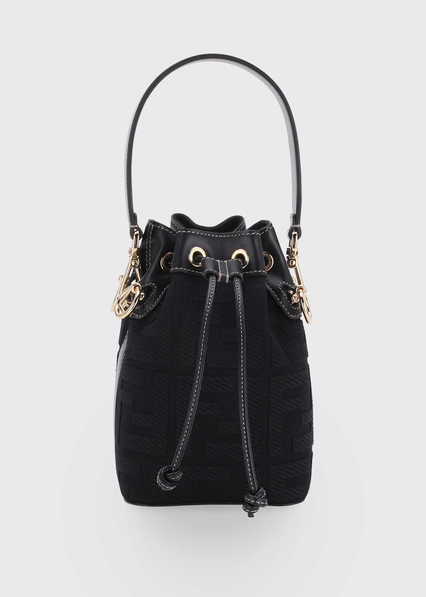 Fendi Mon Tresor Mini FF Embroidery Bucket Bag