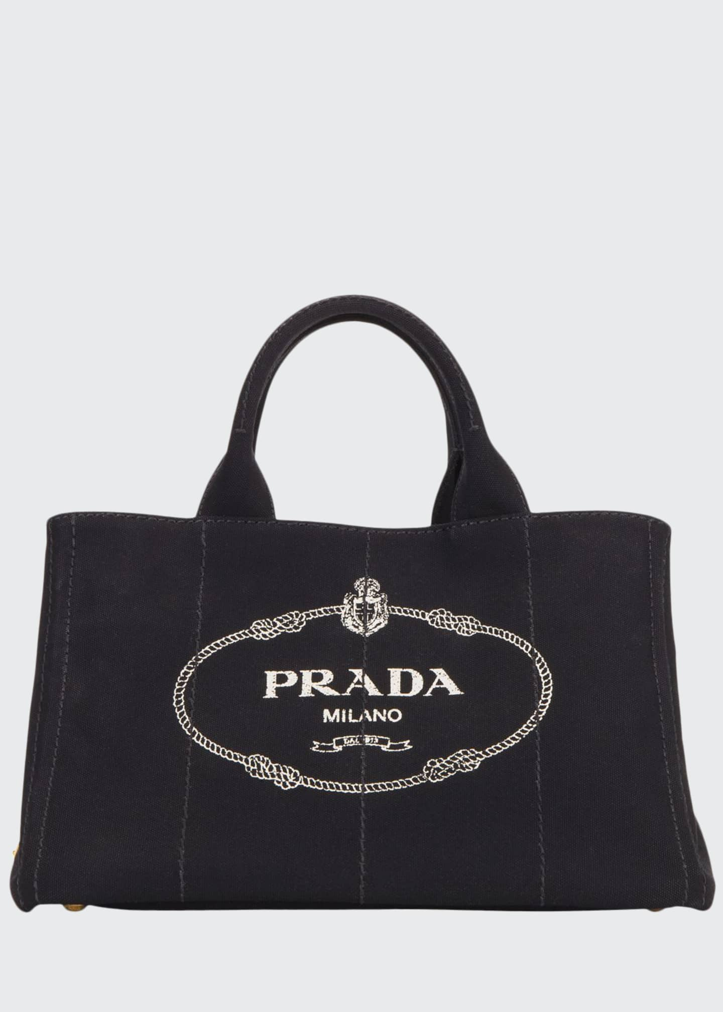 Prada Canapa Medium Logo Tote Bag