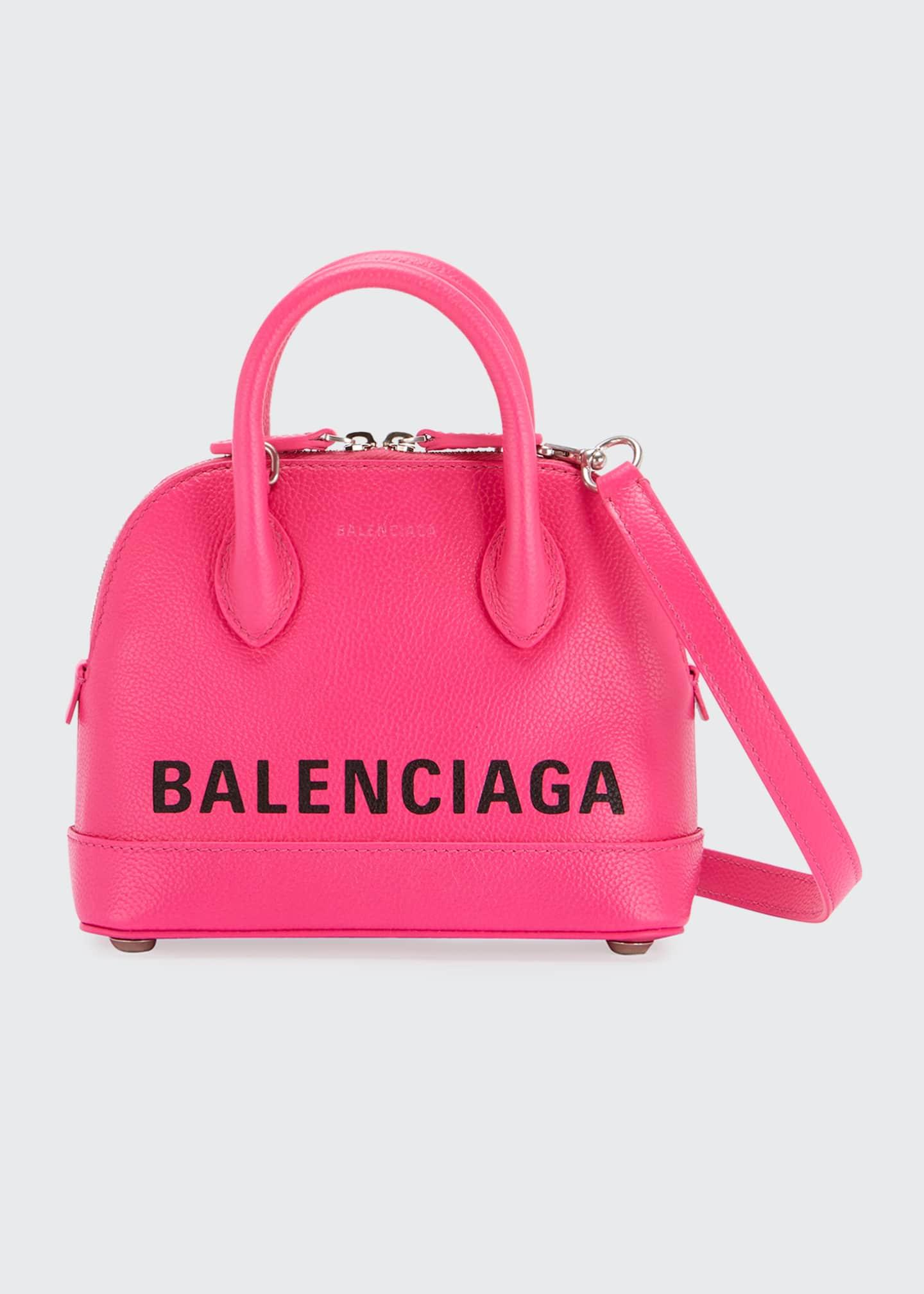 Balenciaga Ville XS Leather Top Handle Logo Satchel