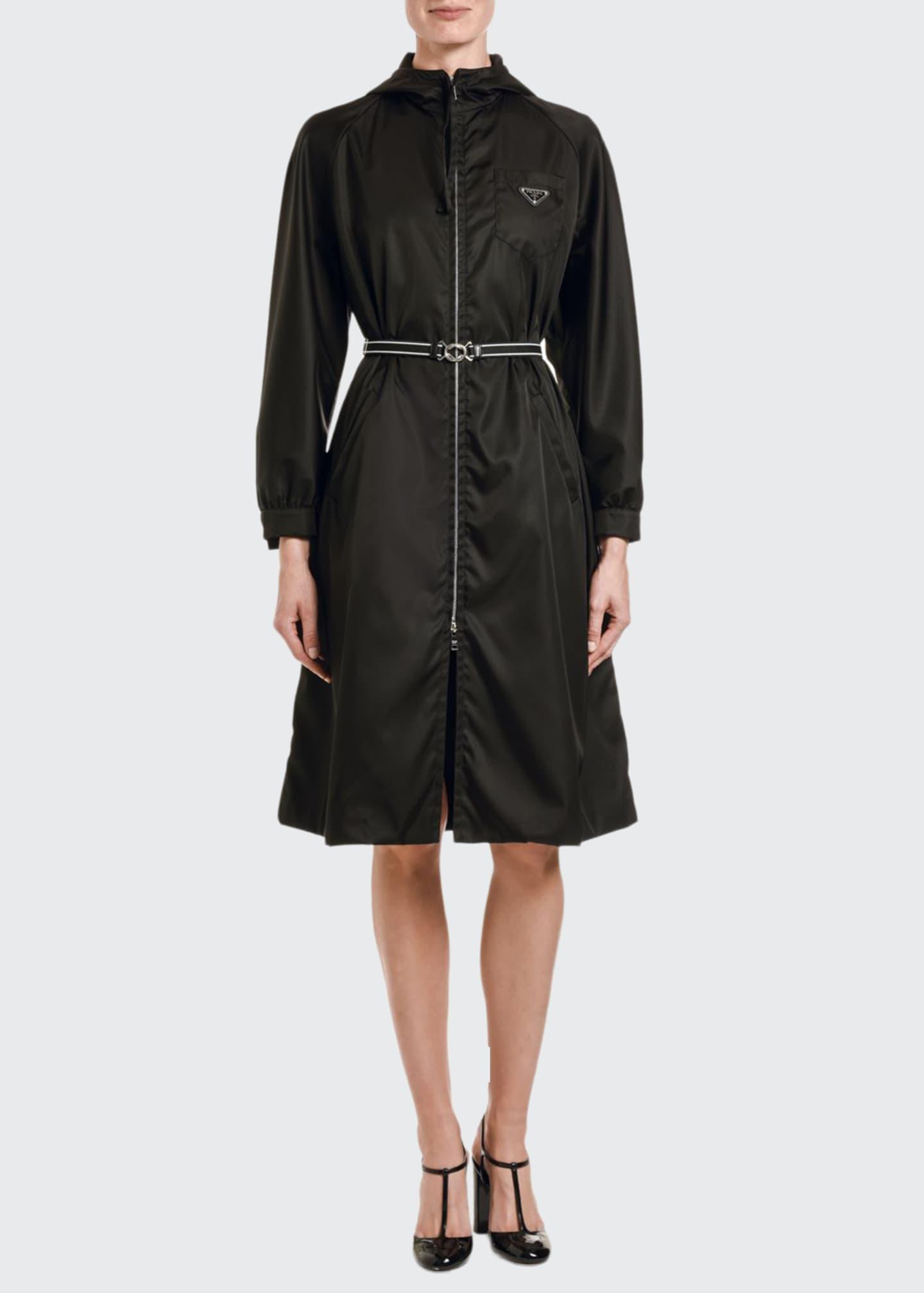 Prada Gabardine Hooded Coat