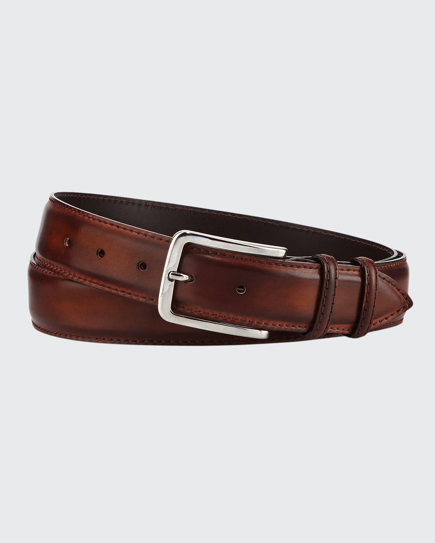 35mm Burnished Leather Belt