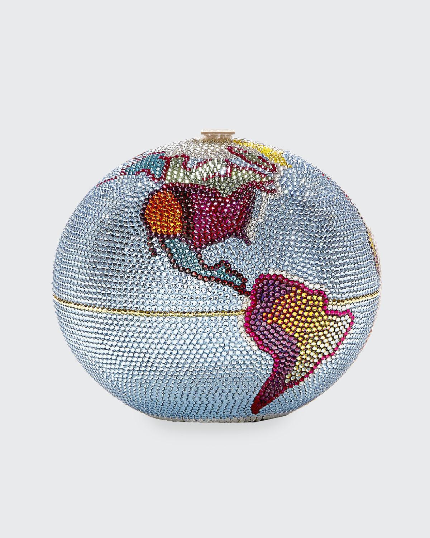 New Sphere Globe Crystal Clutch Bag