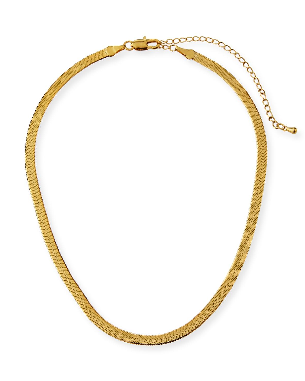 Liquid Herringbone Choker Necklace