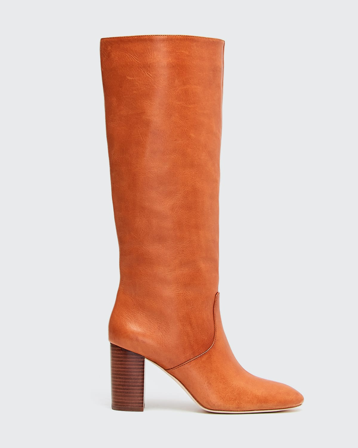 Goldy Leather Knee Boots