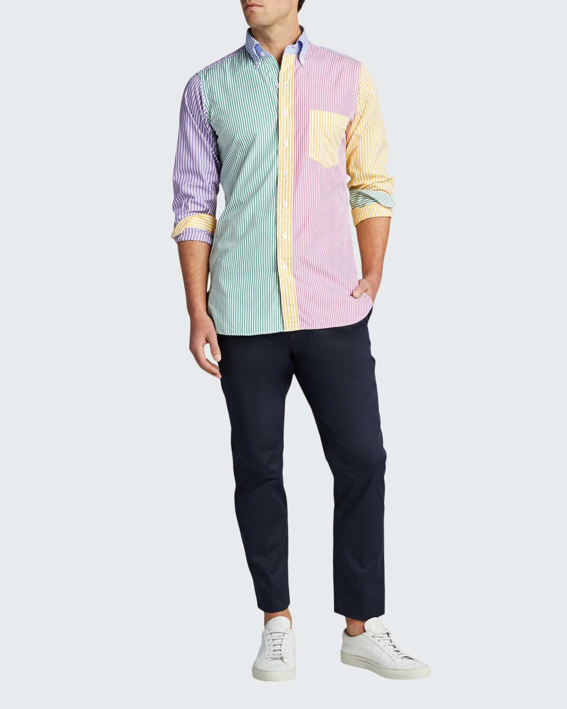 Men's Multicolor Striped Sport Shirt