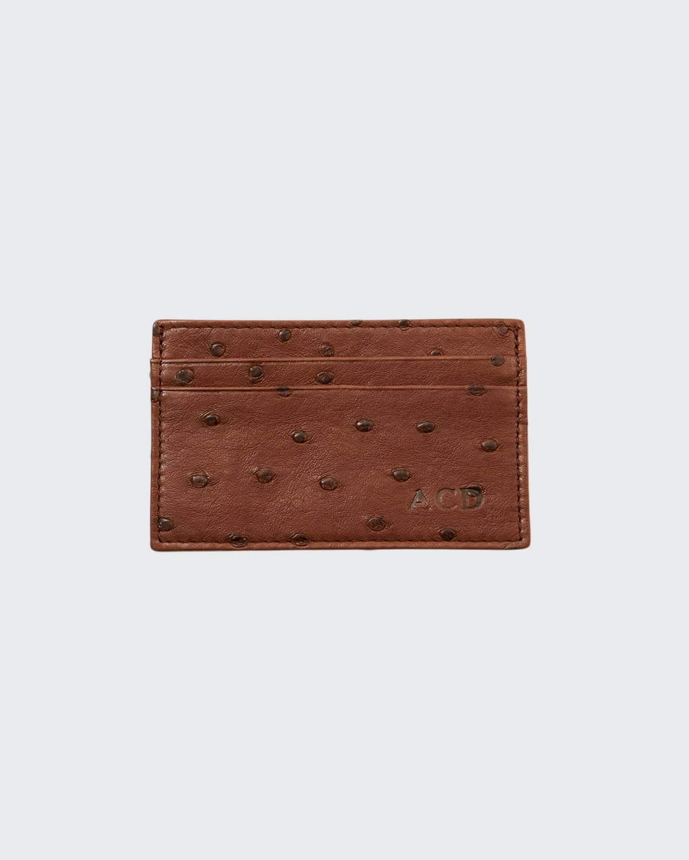 Men's Flat Ostrich Card Case