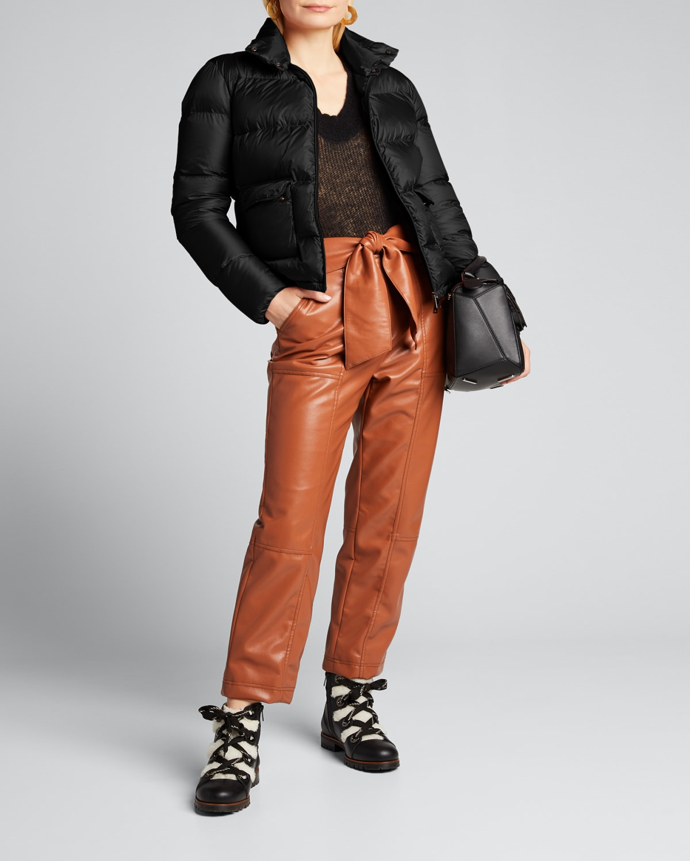 Lannic Quilted Short Zip-Front Jacket