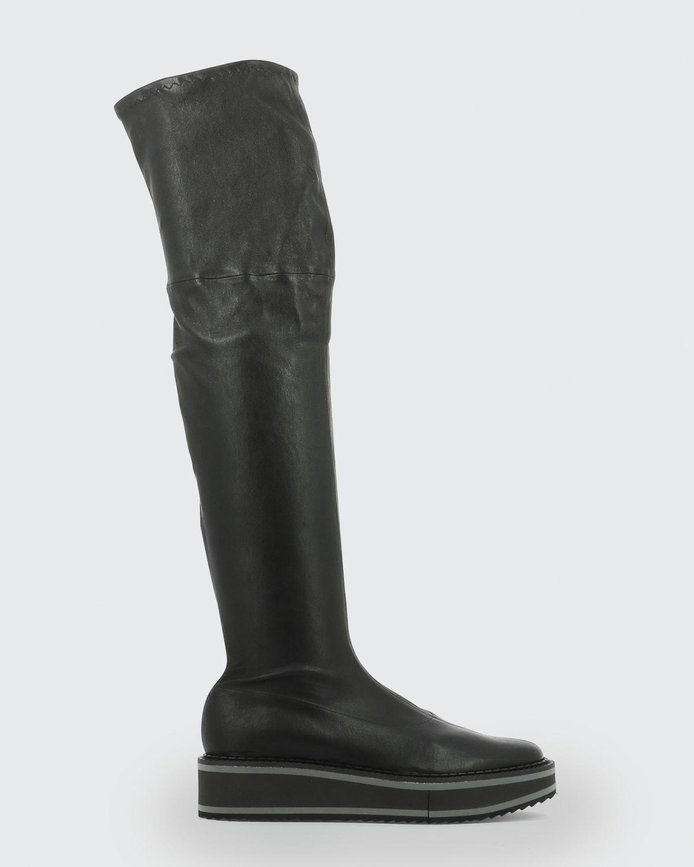 Bella Leather Platform Over-the-Knee Boots