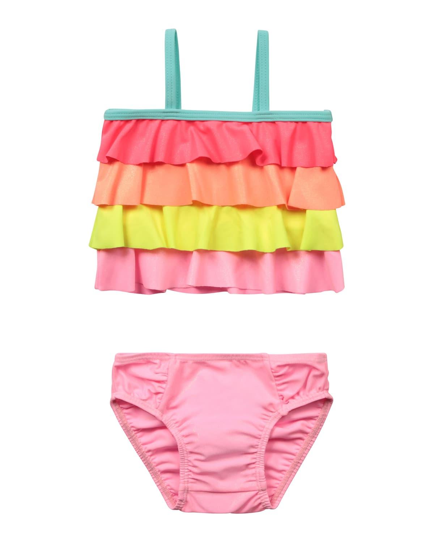 Girl's Tiered Ruffle 2-Piece Bikini Set