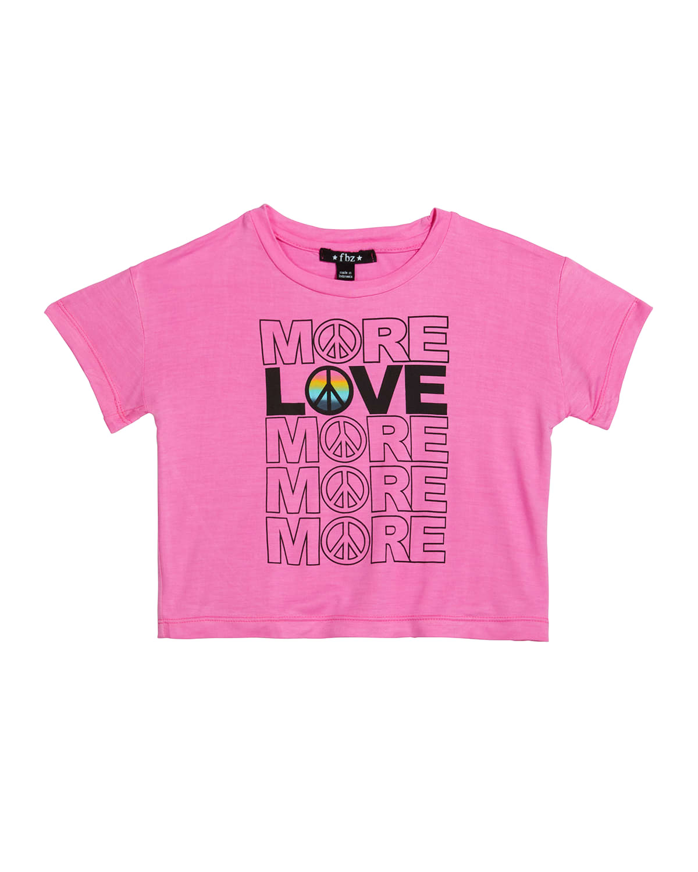 Girl's More Love Typographic T-Shirt