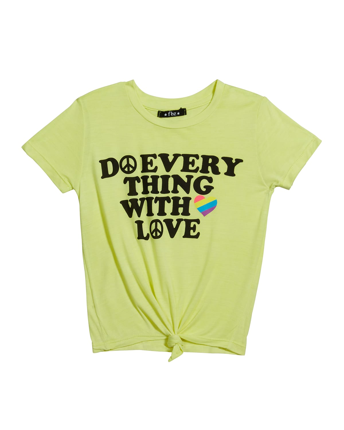 Girl's Do Everything With Love Graphic T-Shirt