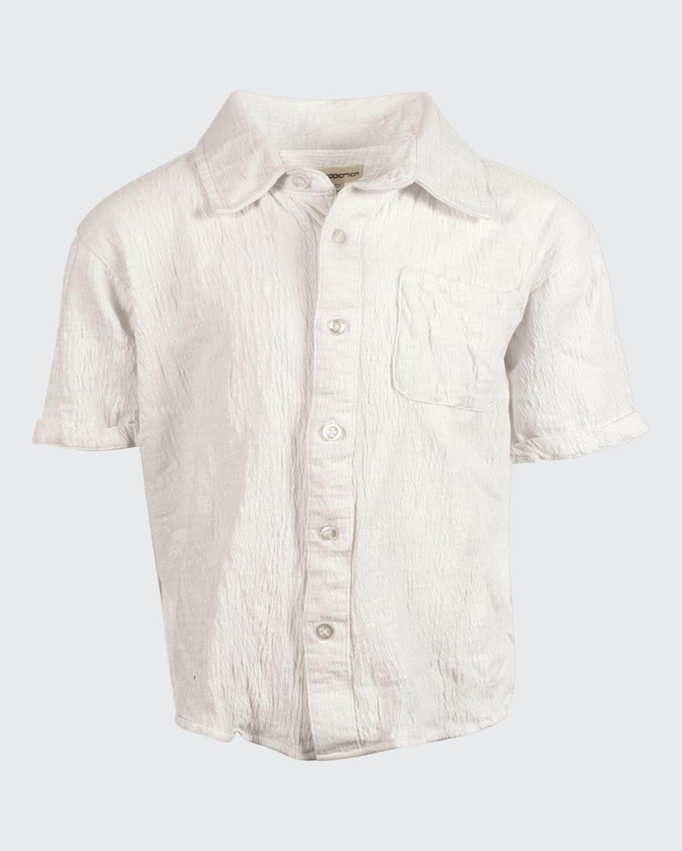 Boy's Beach Textured Cotton-Blend Shirt